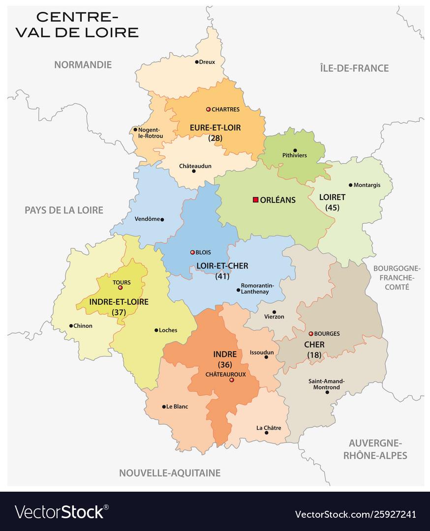 Administrative Centre Val De Loire France tout Liste Region De France