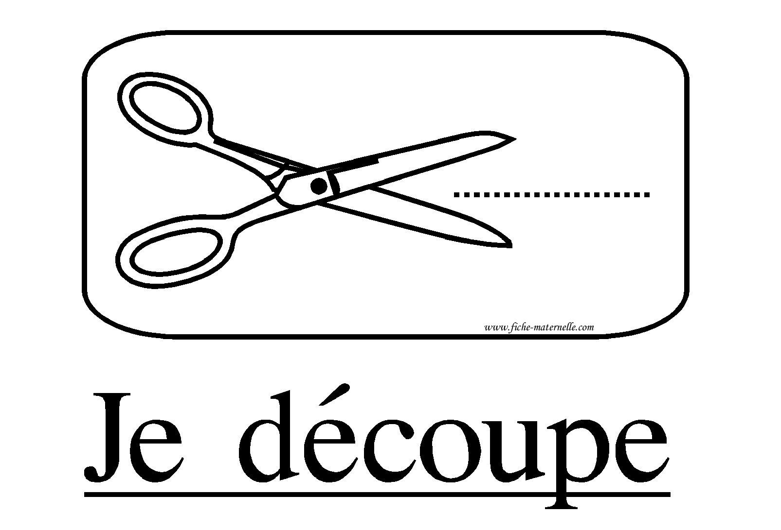 Affichage Classe Consigne Je Decoupe dedans Dessin A Decouper