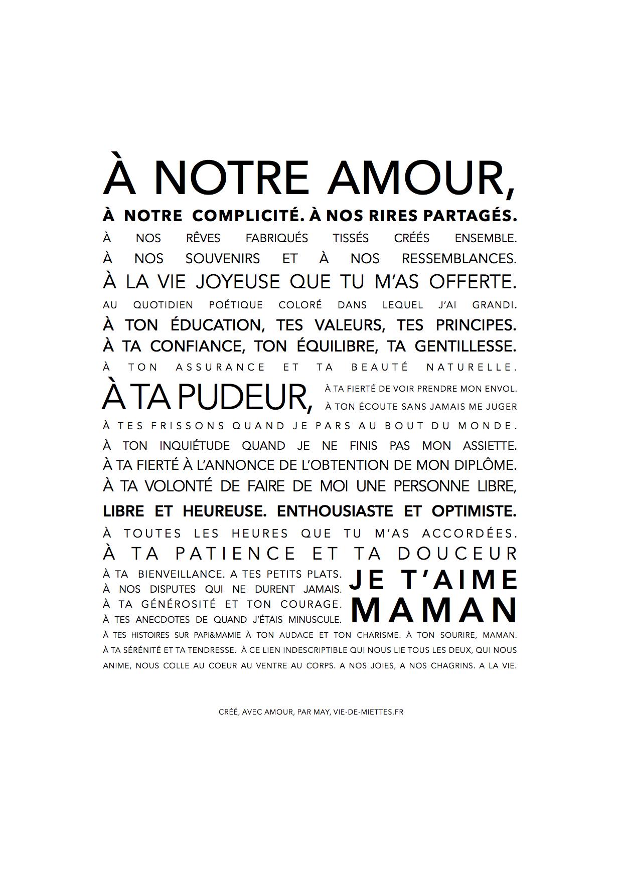 Affiche/carte Fête Des Mères À Imprimer | Maman Citation destiné Carte Fête Des Mères À Imprimer