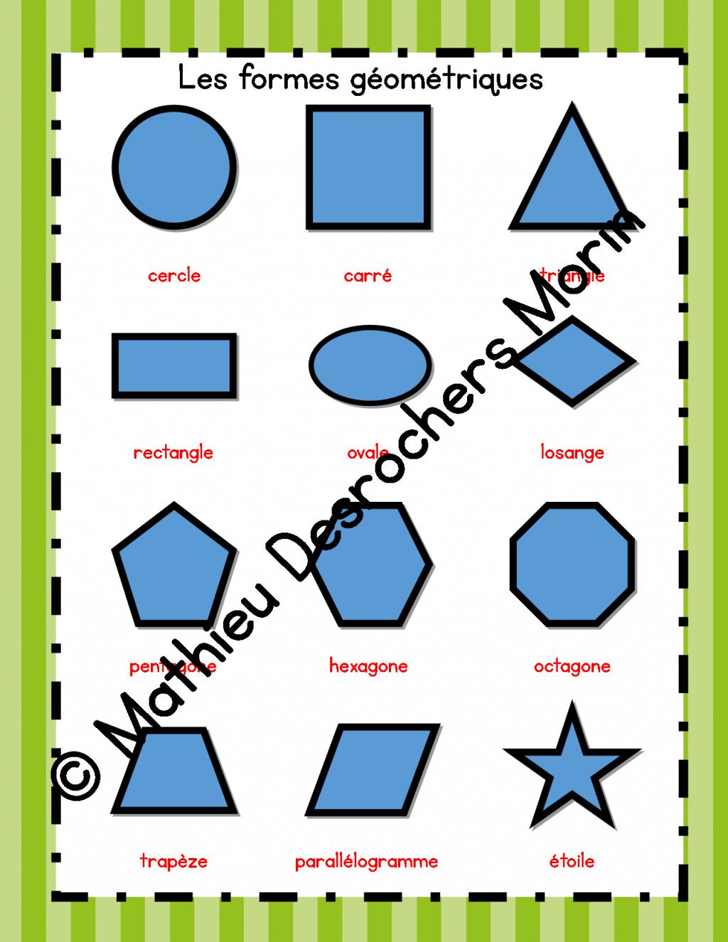 Affiches Des Formes Géométriques encequiconcerne Les Formes Geometrique