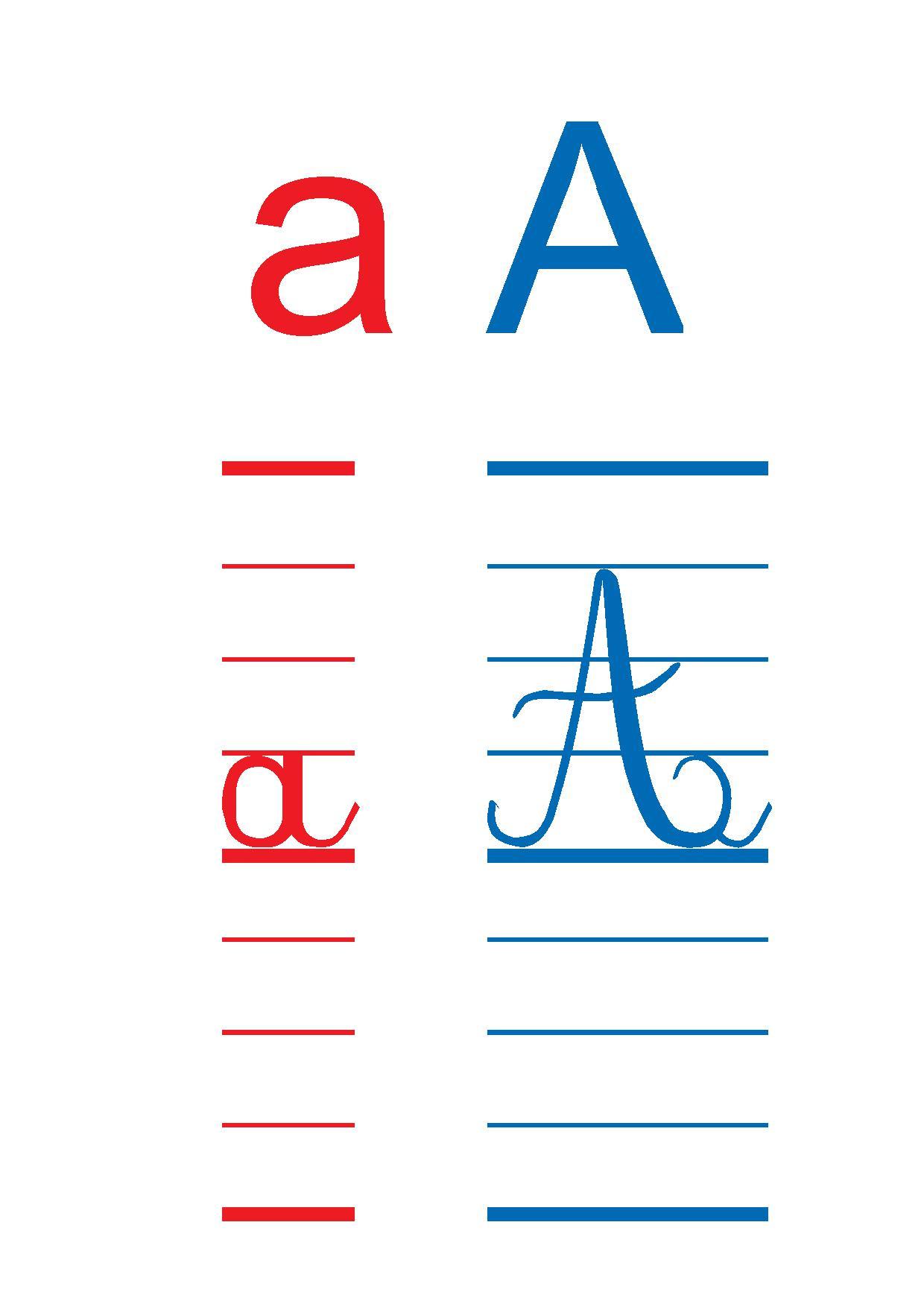 Affiches Des Lettres De L'alphabet Cp,ce1, Les Lettres En concernant Modele Alphabet Majuscule