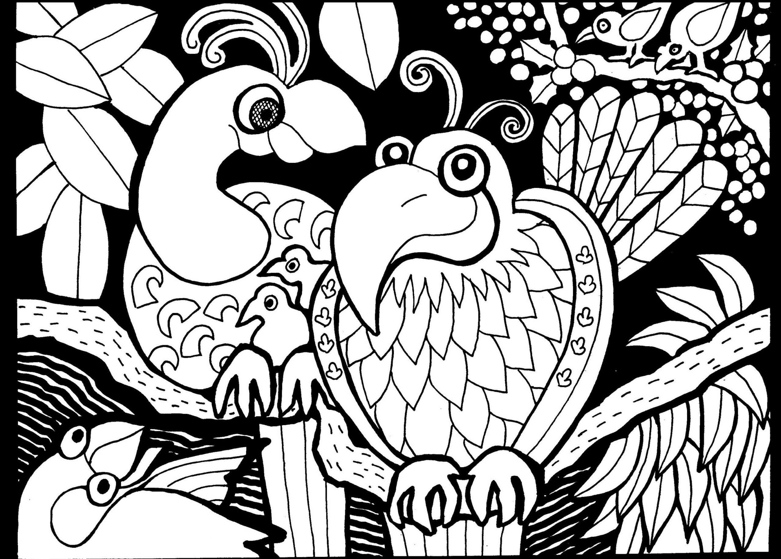 Afrique Dessin Oiseaux - Afrique - Coloriages Difficiles à Dessin Africain A Colorier