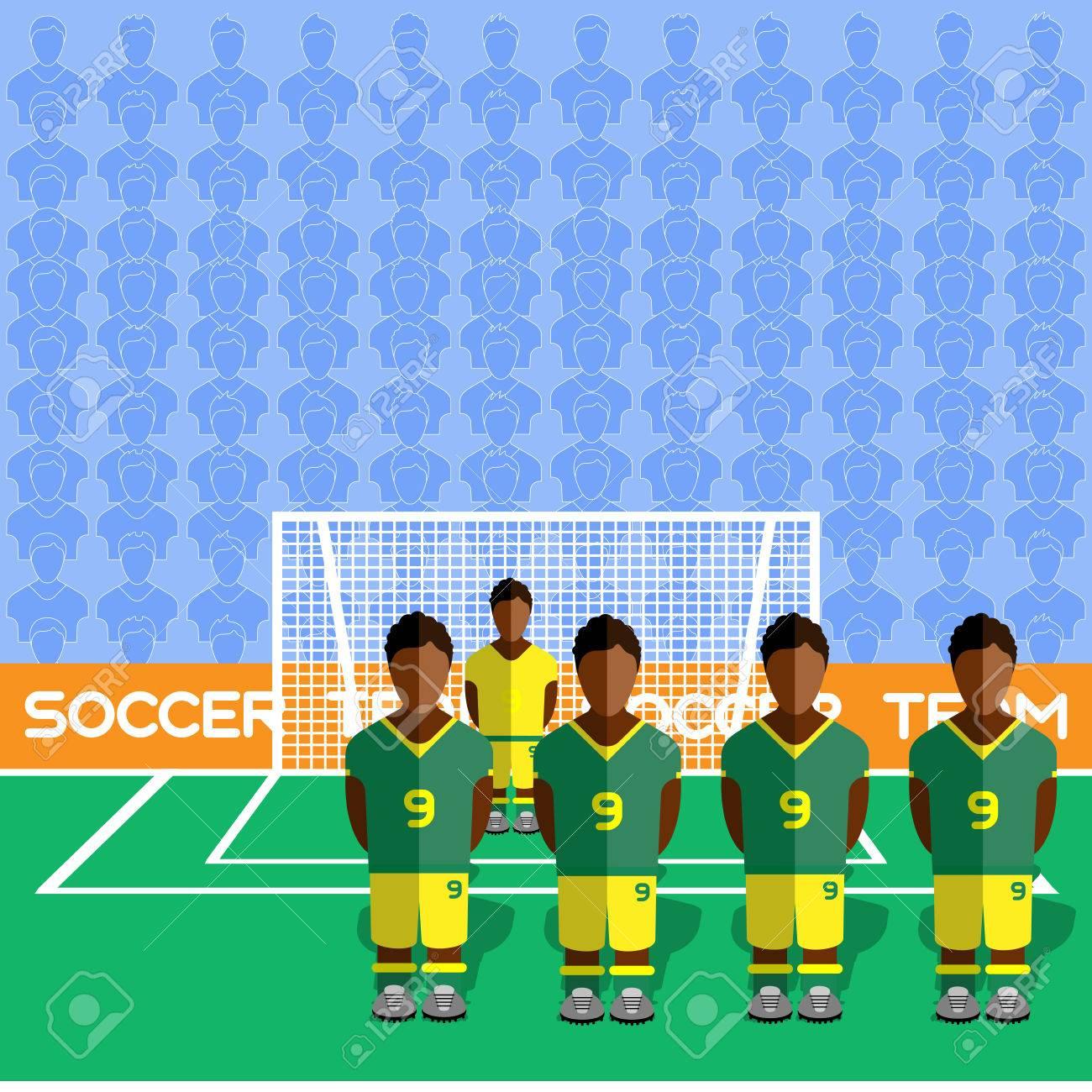 Afrique Du Sud Football Club Soccer Players Silhouettes. Jeux Rmatiques  Équipe De Football Les Joueurs Grand Ensemble. Graphie Sportif. Les pour Jeux De Gardien