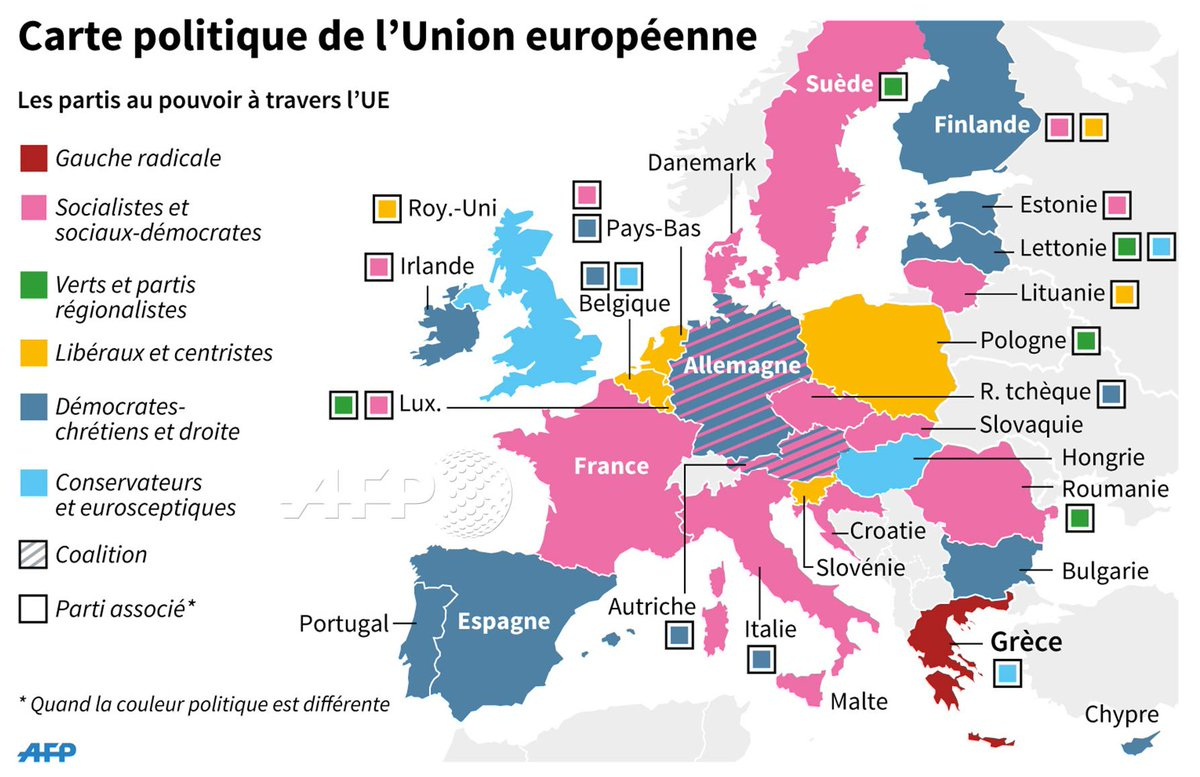 "Agence France-Presse On Twitter: ""carte Politique De L'union dedans Carte De L Union Europeenne"