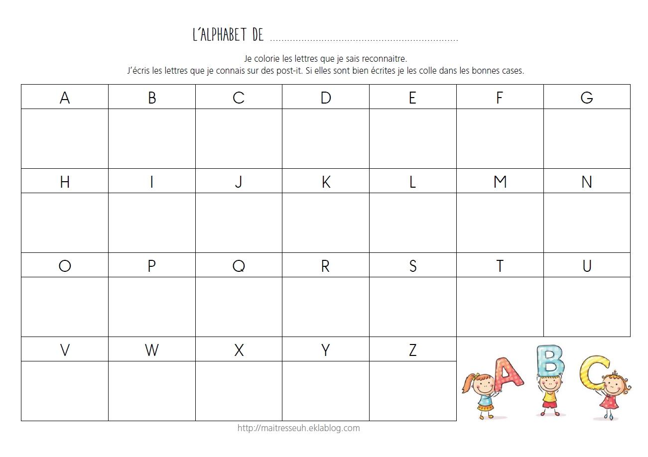 Aider Les Élèves À Mémoriser Le Nom Des Lettres - Maitresseuh dedans Exercice Pour Apprendre L Alphabet En Maternelle