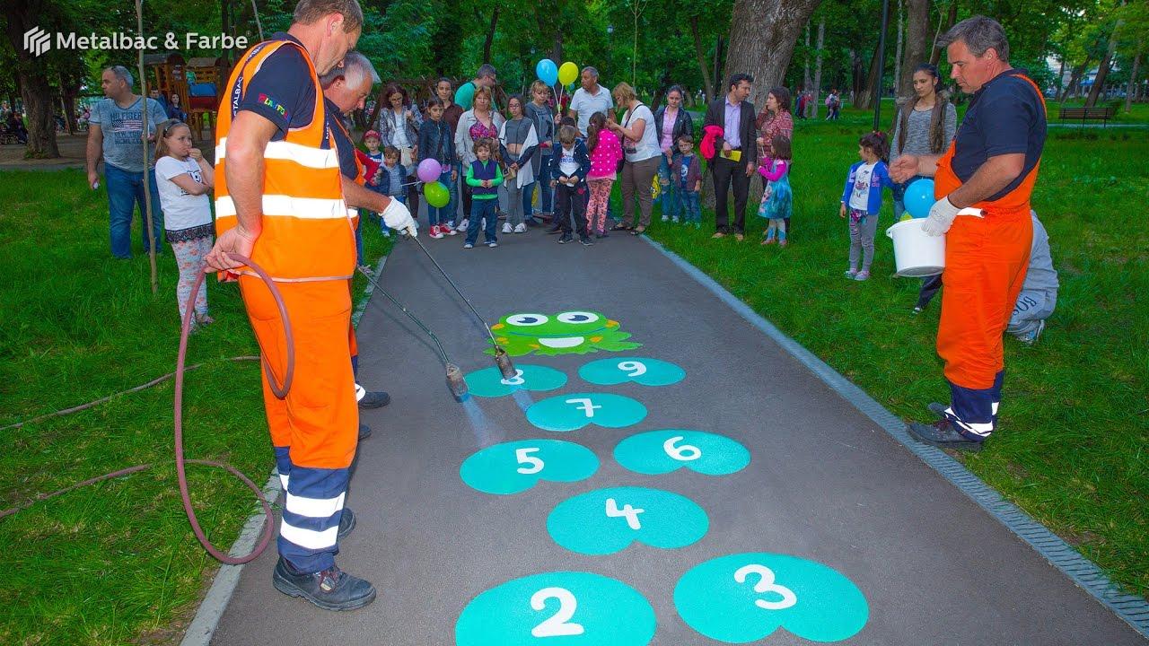 Aire De Jeux Pour Enfants, Jeux Educatifs, Jeux D'École - Marquage Au Sol  Thermocollé Préfabriqué pour Jeux Pedagogique Maternelle