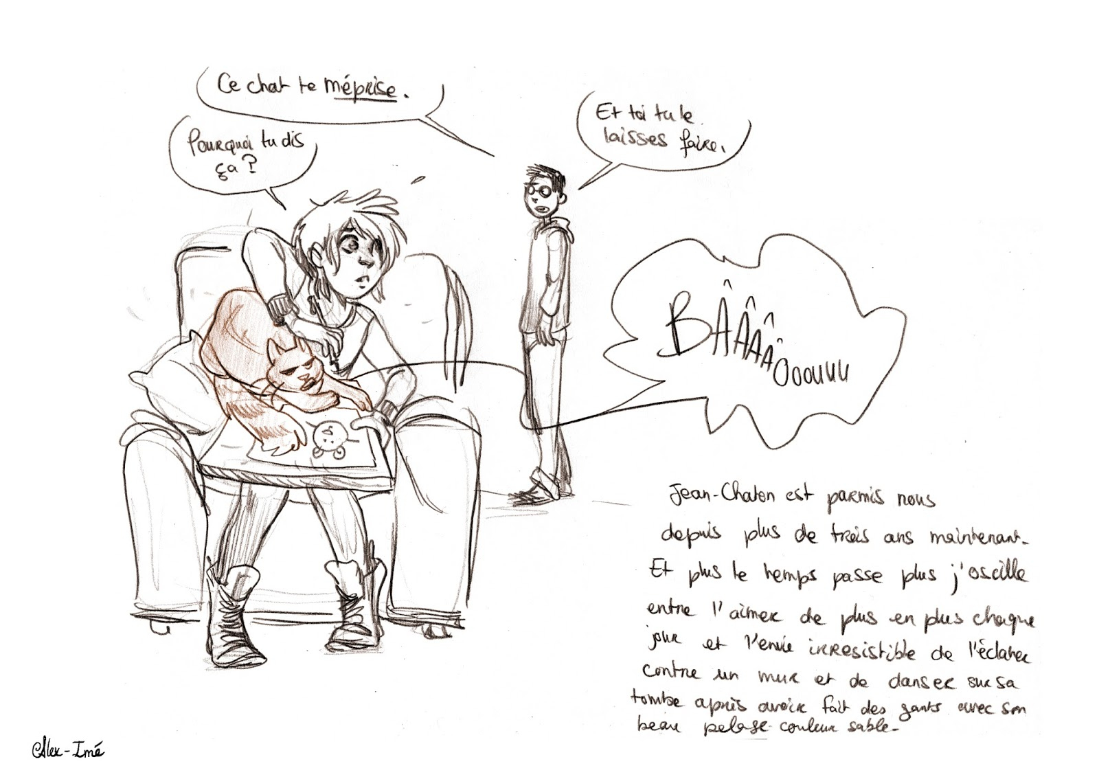 Alex-Imé: Minou concernant Minou Dessin