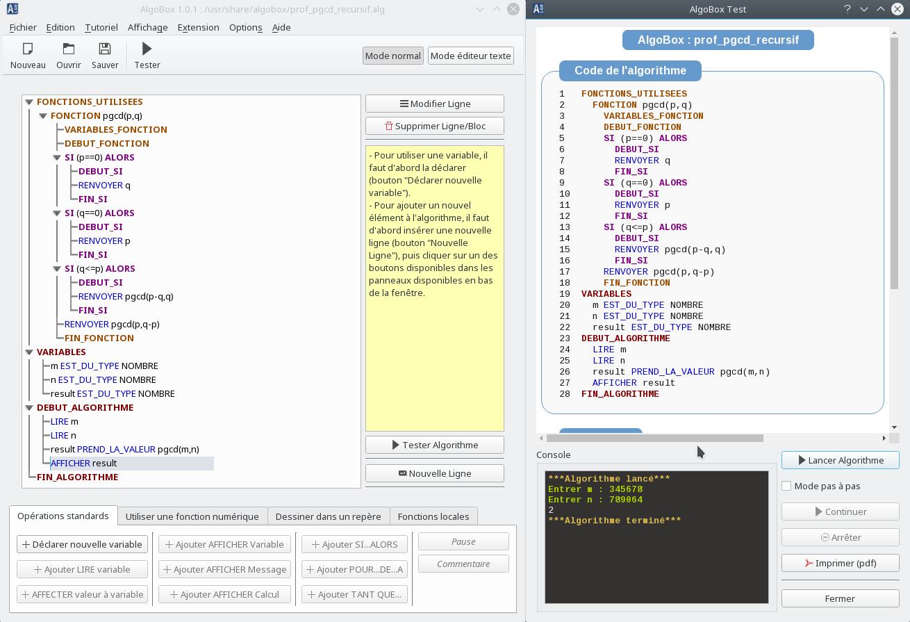 Algobox : Algorithmique Et Programmation Au Lycée Et Au Collège avec Logiciel Éducatif En Ligne