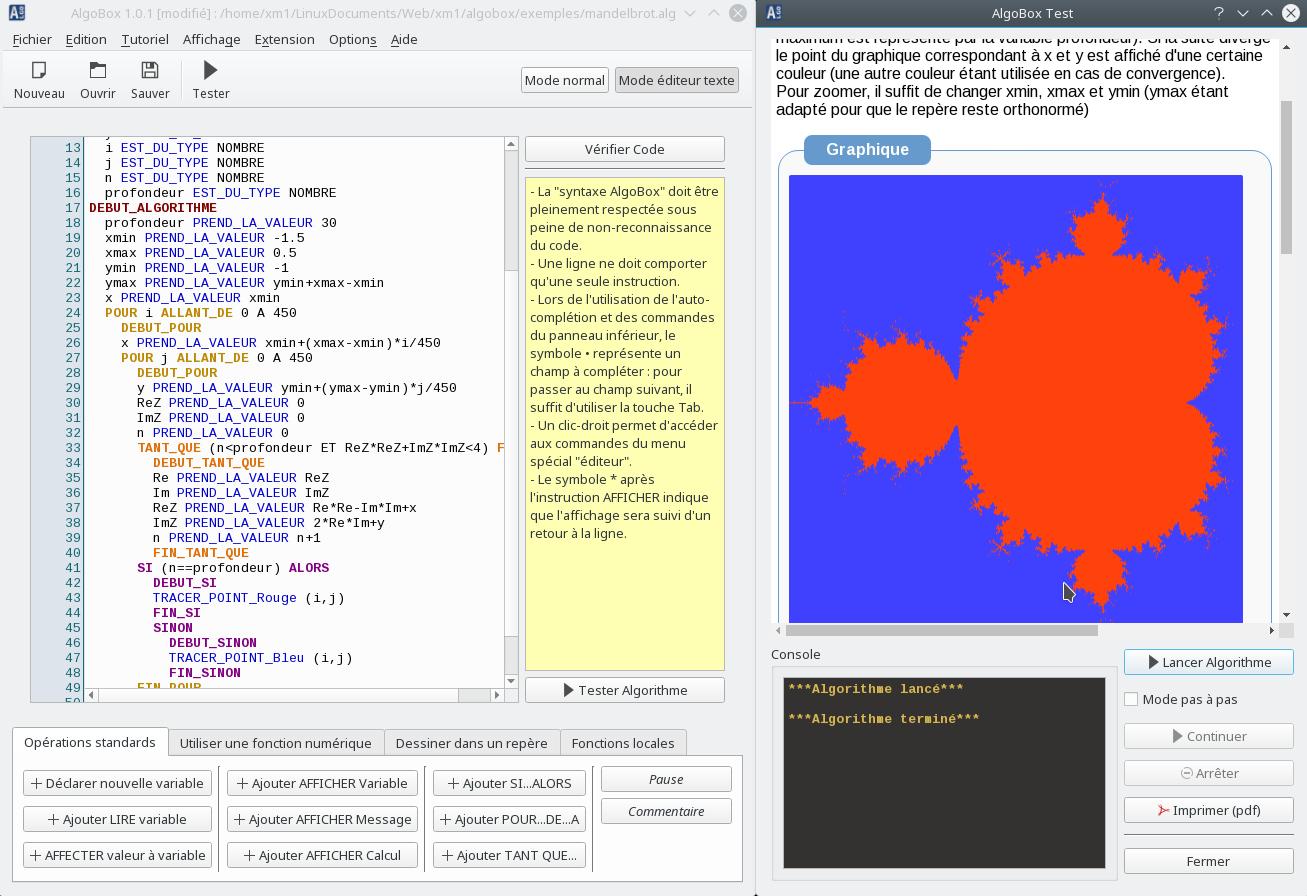 Algobox : Algorithmique Et Programmation Au Lycée Et Au Collège destiné Logiciel Éducatif En Ligne