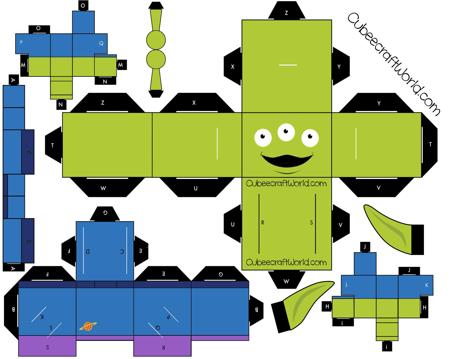 Alien (Toy Story 3) | Paper Toys Template, Toy Story Crafts à Paper Toy A Imprimer