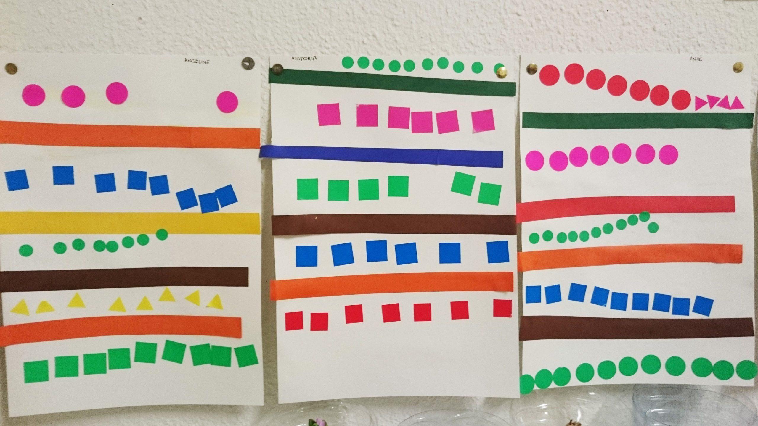 Alignement Ps: Collage Bandes + Lignes De Gommettes avec Jeux En Ligne Maternelle Petite Section