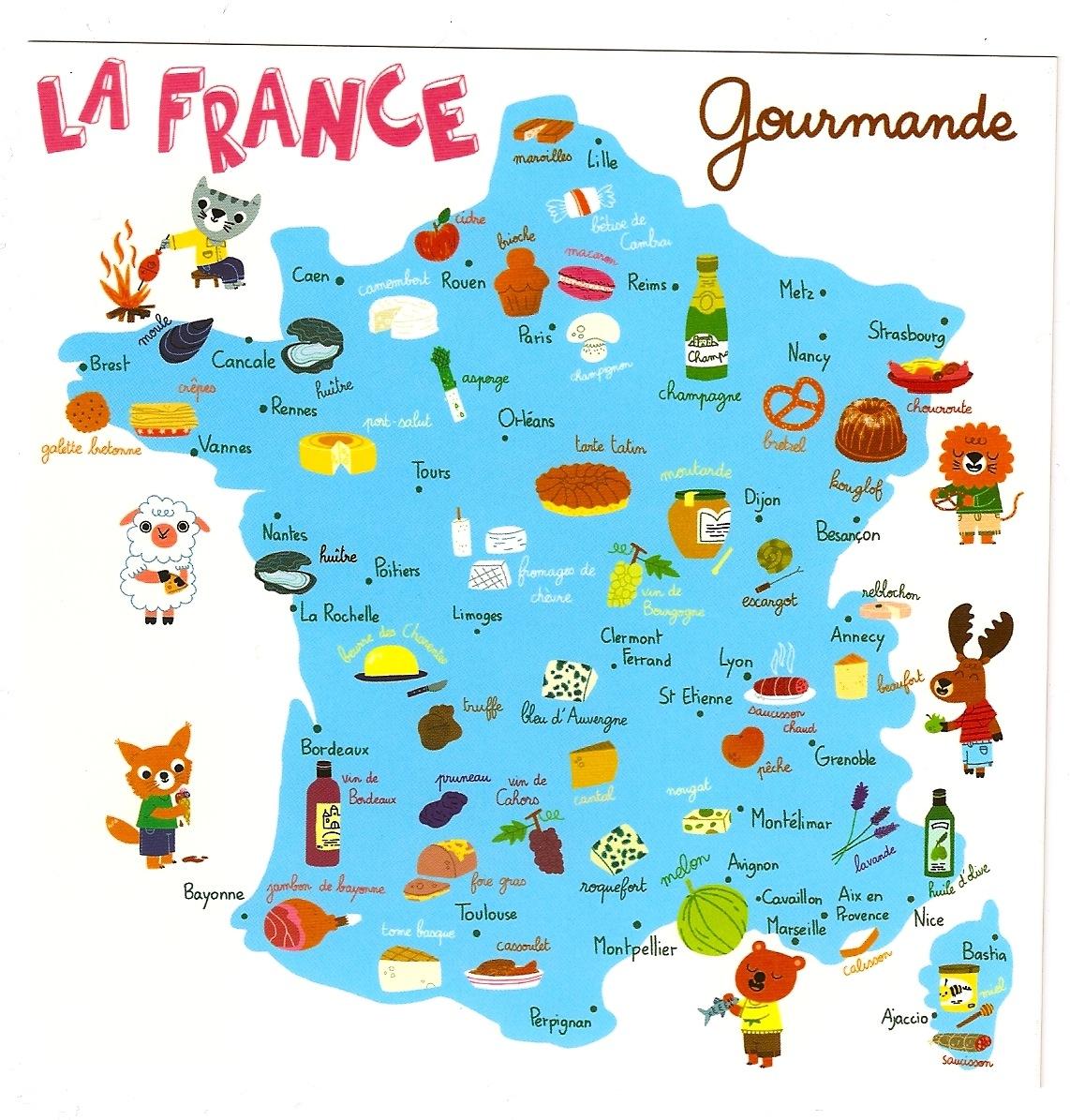 All Points Delicious In France avec Carte De Region France