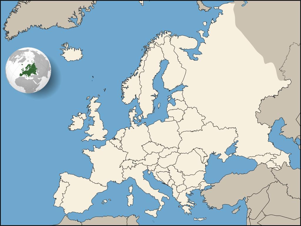 Alliances Militaires En Europe En 1914-1918. Source : Http encequiconcerne Carte Europe Vierge