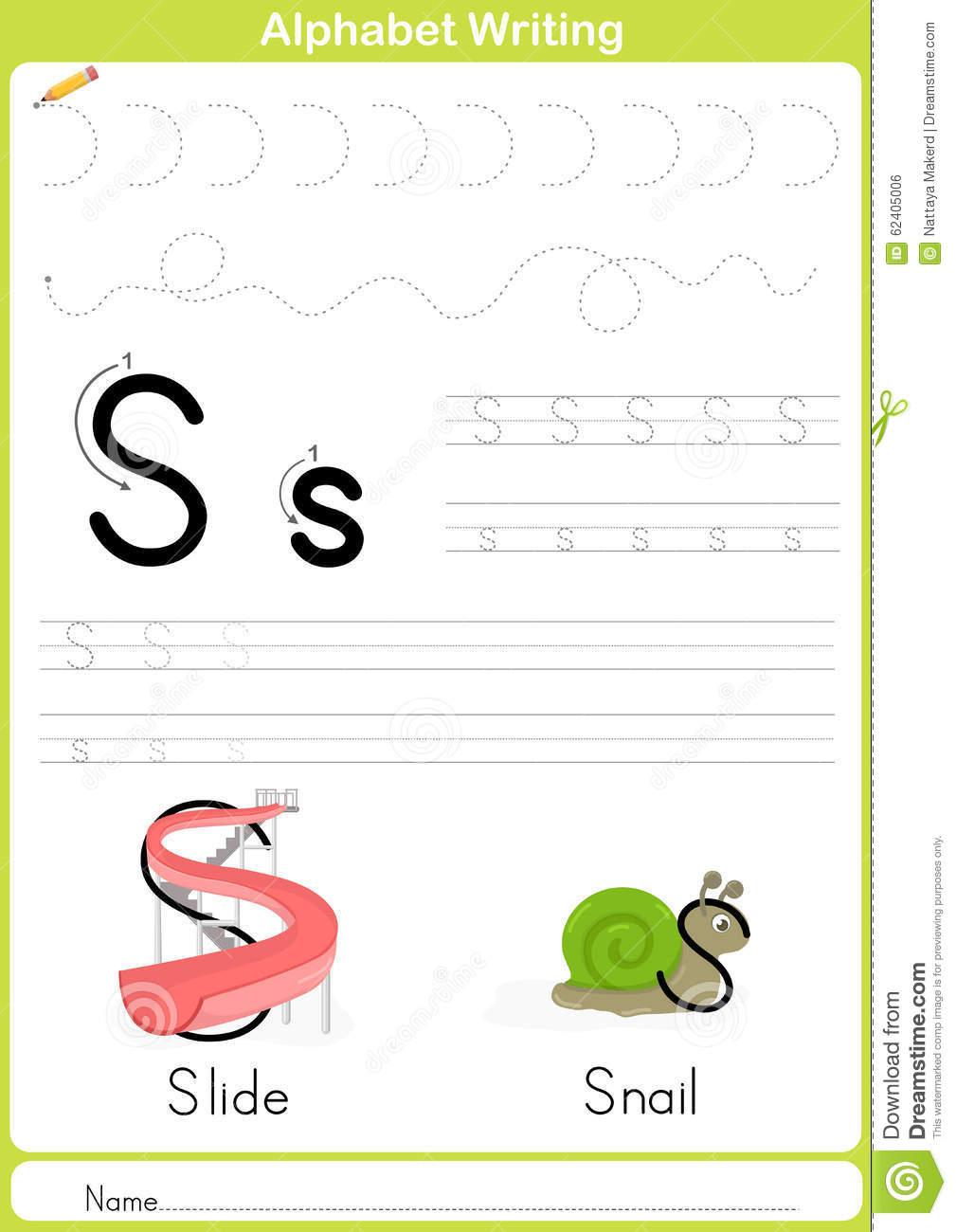 Alphabet A-Z Tracing Worksheet, Exercices Pour Des Enfants dedans Papier A Lettre Enfant