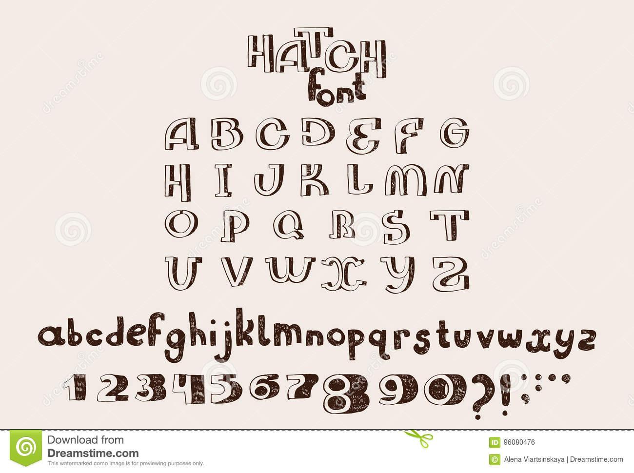 Alphabet Anglais Tiré Par La Main De Vecteur Les Lettres dedans Alphabet En Pointillé A Imprimer