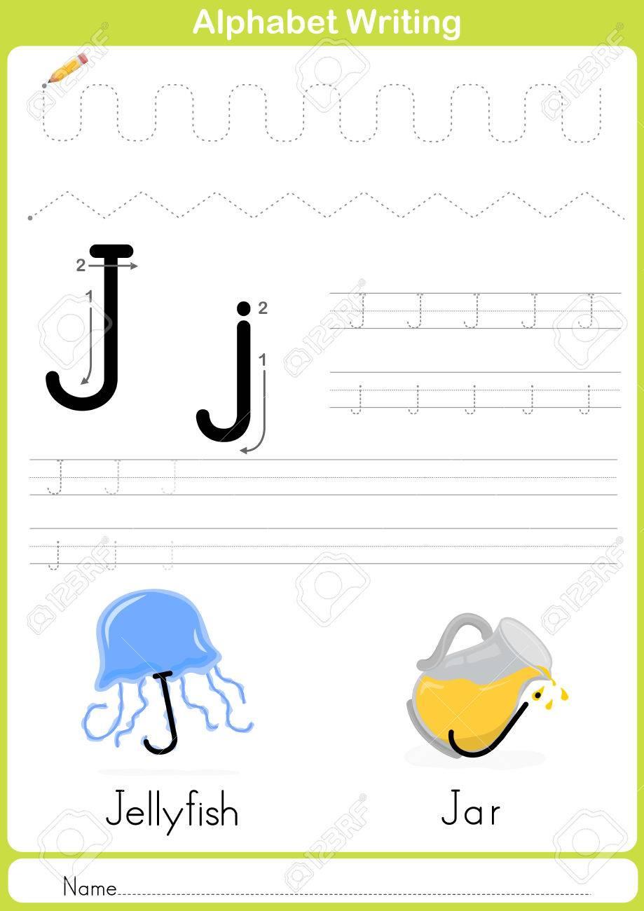 Alphabet Az Tracing Feuille, Exercices Pour Les Enfants - Illustration Et  Vecteur Contour - Papier A4 Prêt À Imprimer avec Exercice Pour Apprendre L Alphabet En Maternelle