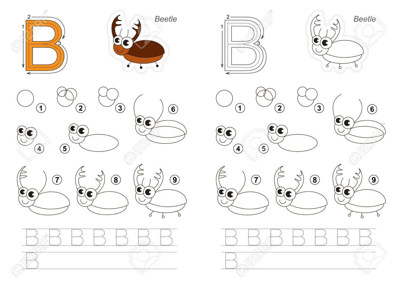 Alphabet Complet Illustré De Vecteur Avec Des Jeux Pour Enfants. Apprendre  L'écriture. Jeu Éducatif Facile Pour Les Enfants. Niveau Simple De concernant Jeux De Lettres Enfants