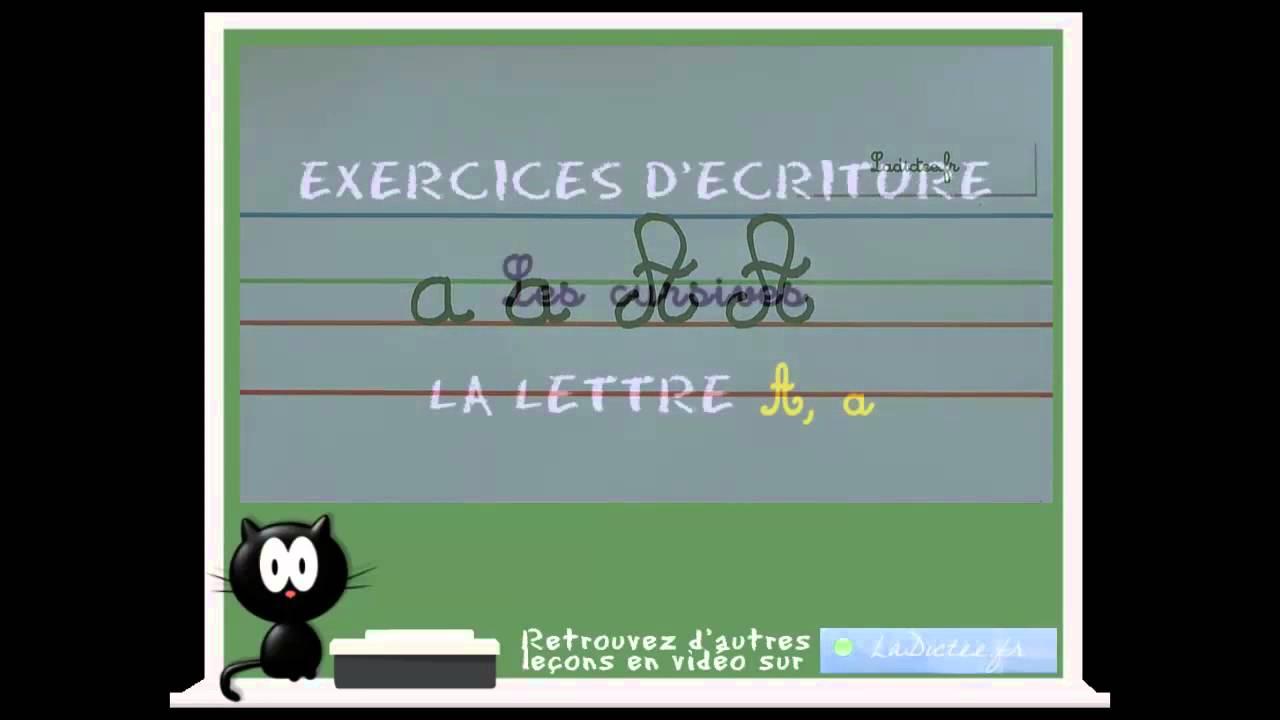 Alphabet Cursif - Comment Écrire La Lettre Cursive A Explication En Français avec Comment Écrire Les Lettres De L Alphabet Français