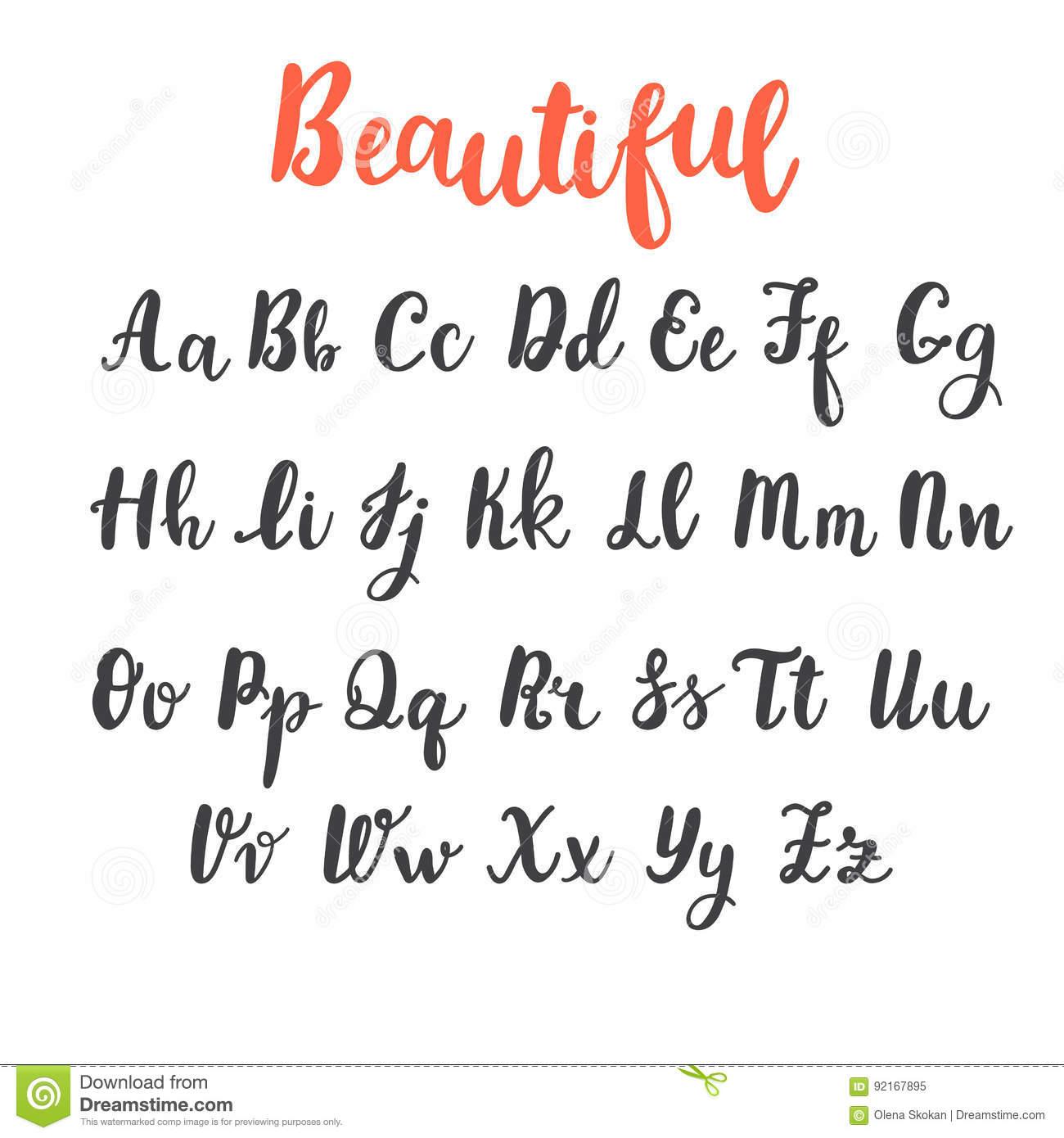 Alphabet D'aspiration De Main Lettres Majuscules Et intérieur Alphabet Majuscule Et Minuscule