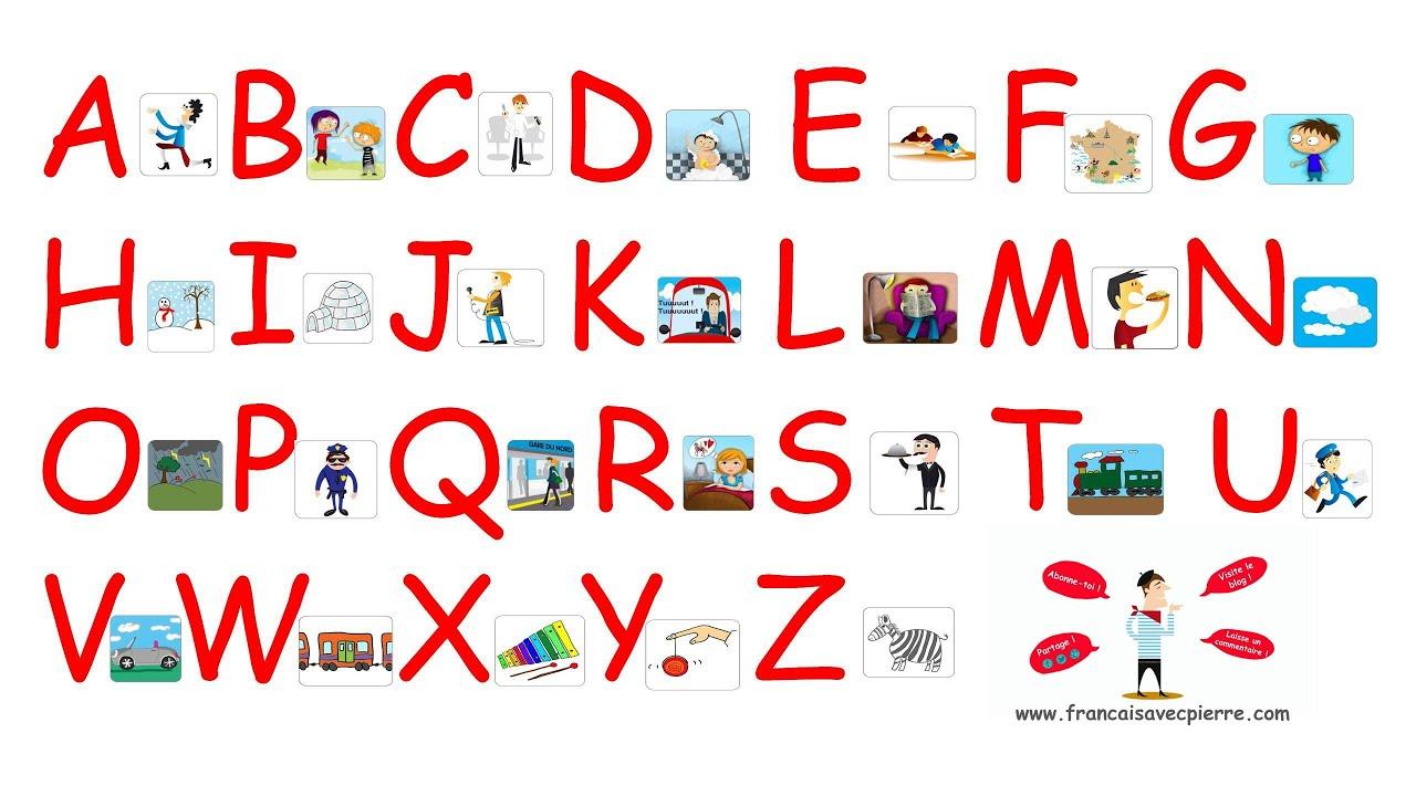 Alphabet Français pour Apprendre Alphabet Francais