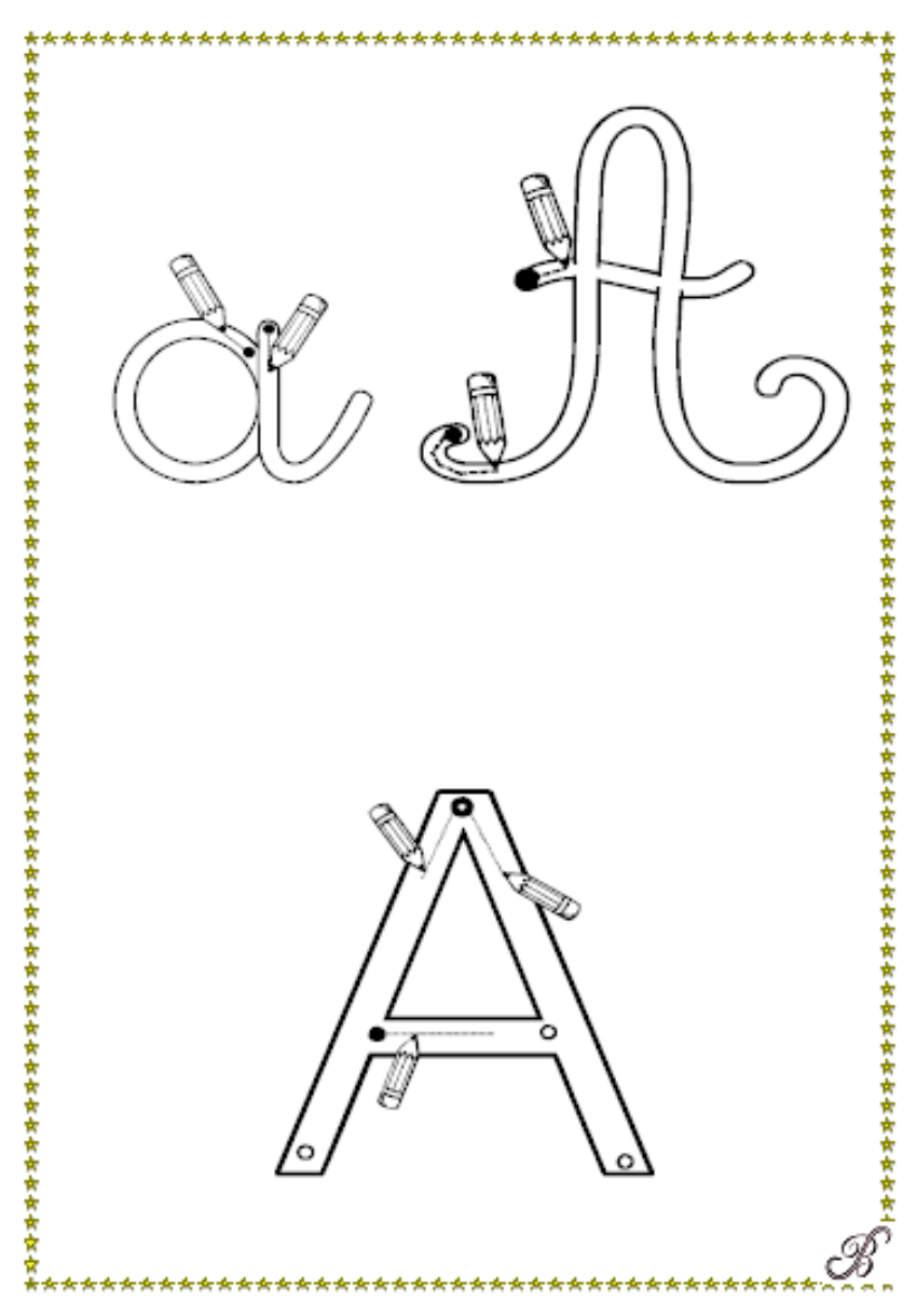 Alphabet Gratuit Pour Apprendre À Écrire. À Imprimer En à Apprendre A Ecrire Gratuit