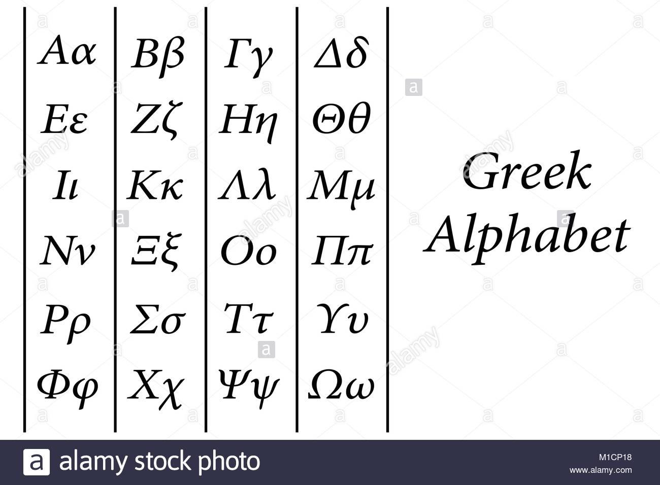 Alphabet Grec Vecteur Avec Les Lettres Majuscules Et pour Alphabet Majuscule Et Minuscule