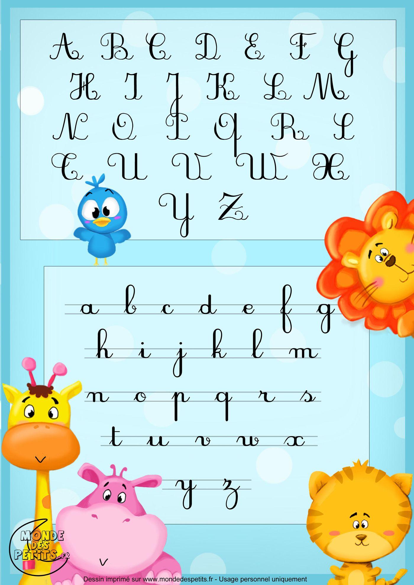 Alphabet-Imprimer-Enfant (1400×1980) | Comptine De L dedans Alphabet Français À Imprimer