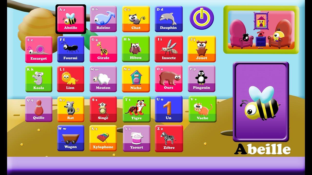 Alphabet / Jeu Alphabet / Découvrir Les Lettres, Les Mots Et Leurs Sons destiné Jeux Pour Apprendre L Alphabet