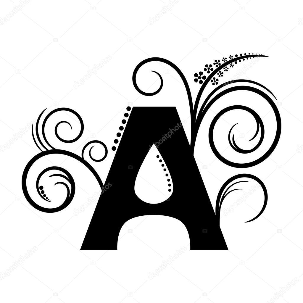 Alphabet Letter A Pattern — Stock Vector © Mas042 #76375347 concernant Modele Lettre Alphabet