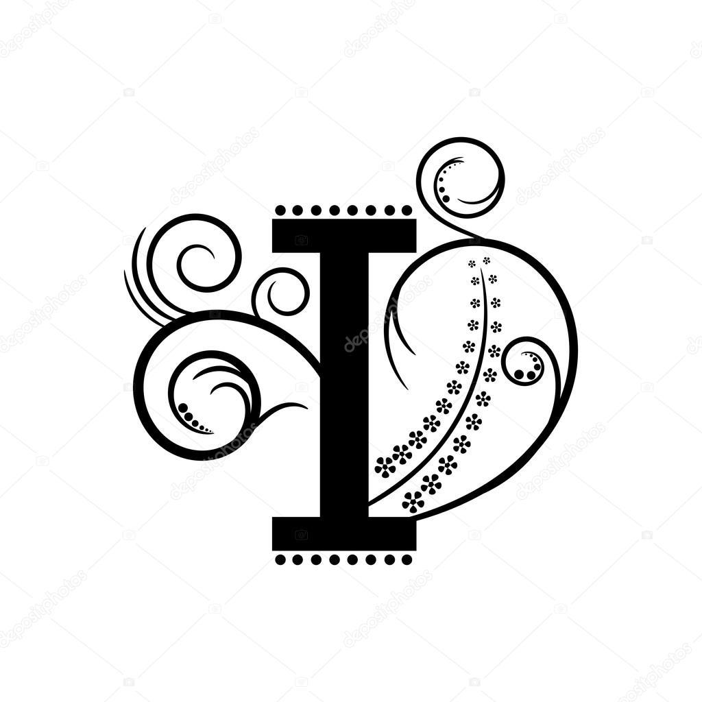 Alphabet Letter I Pattern — Stock Vector © Mas042 #76375689 tout Modele De Lettre Alphabet