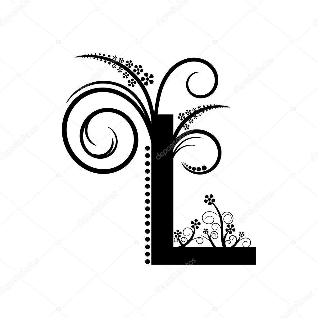 Alphabet Letter L Pattern — Stock Vector © Mas042 #76374899 serapportantà Modele Lettre Alphabet
