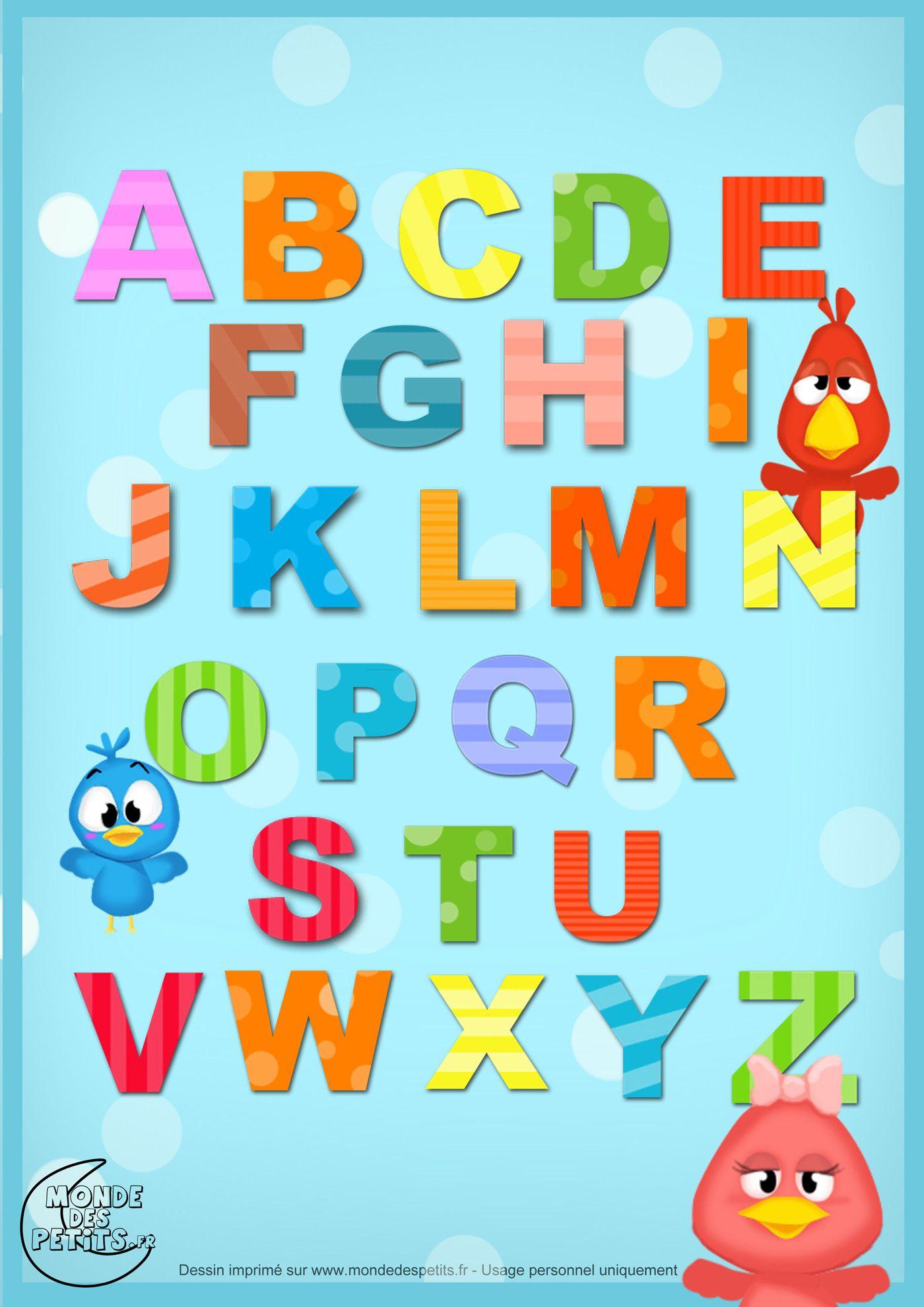 Alphabet-Lettre-Enfant (1400×1980) | Apprendre L encequiconcerne Apprendre Alphabet Francais