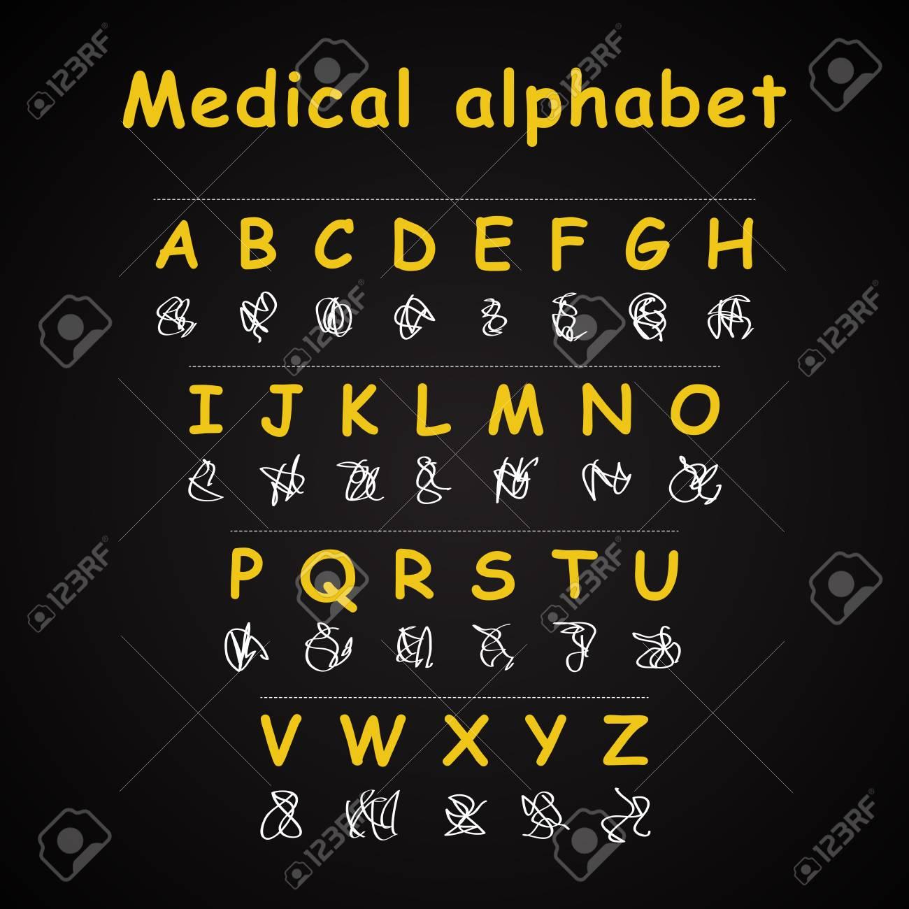 Alphabet Médical - Modèle D'inscription Drôle tout Modèle D Alphabet