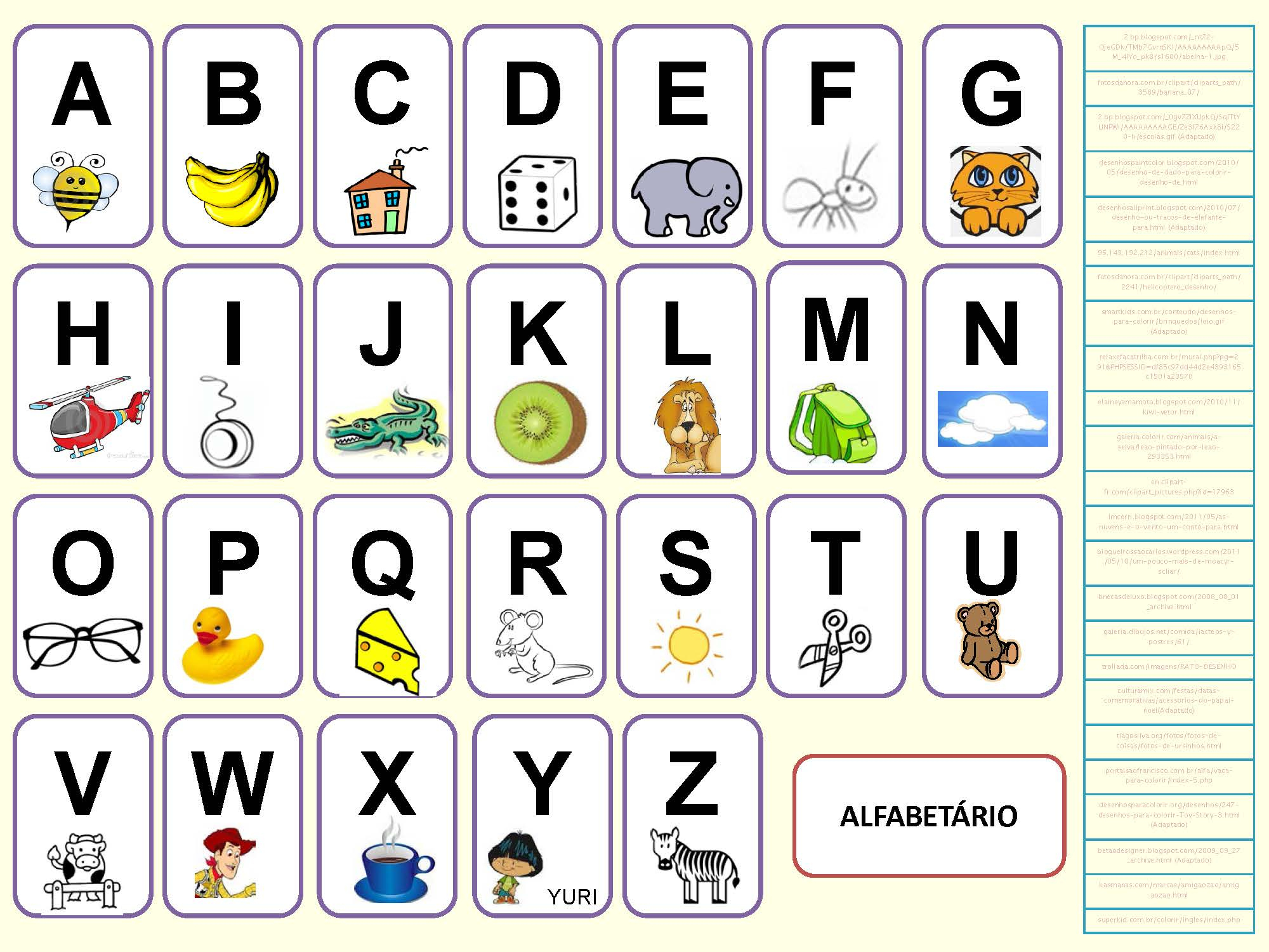 Alphabet Portugais En Images À Imprimer - Tests & Jeux destiné Exercice Pour Apprendre L Alphabet En Maternelle