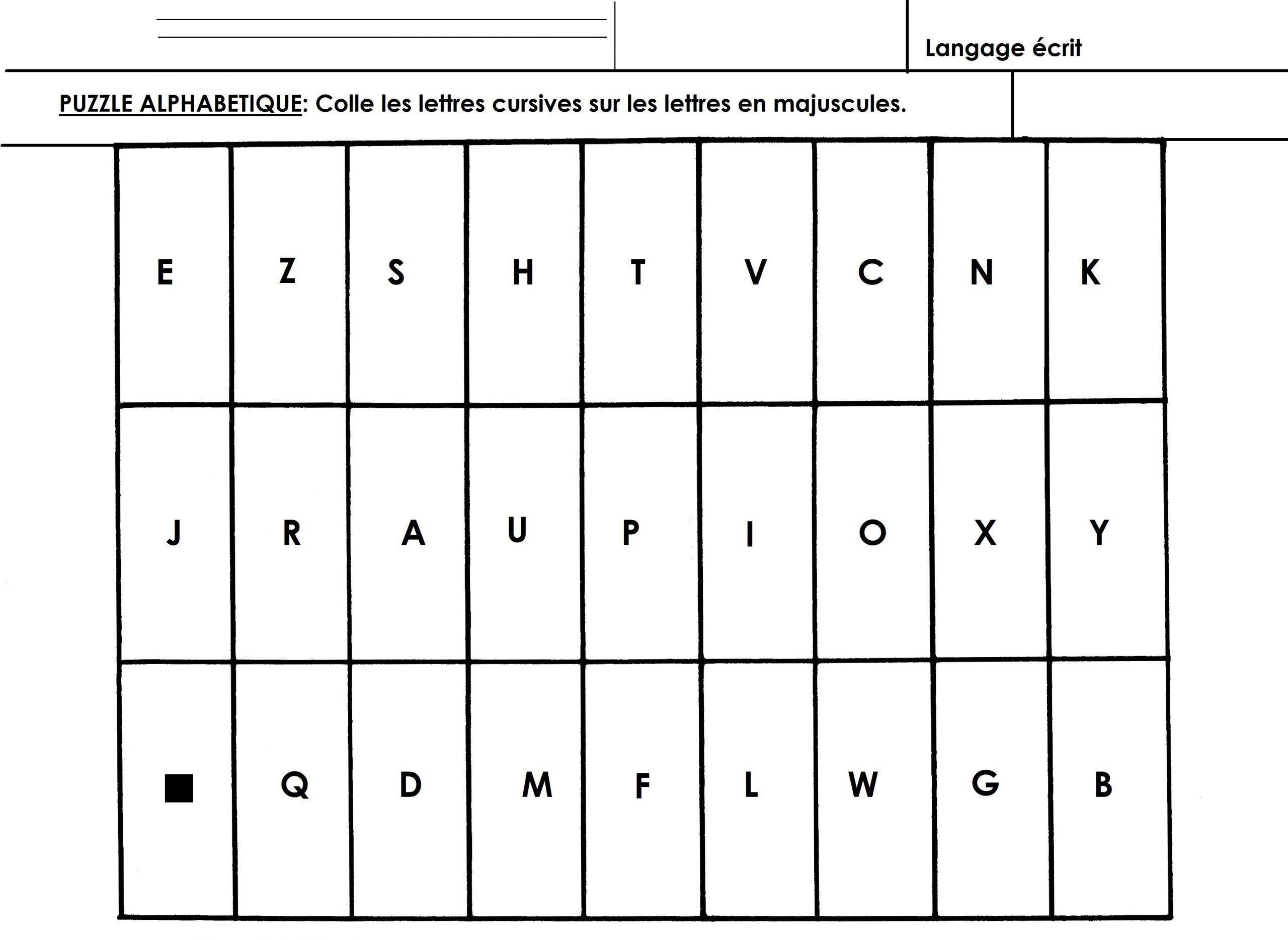 Alphabet: Puzzle Alphabétique Grande Section Cp - École serapportantà Lettre De L Alphabet A Imprimer Et Decouper