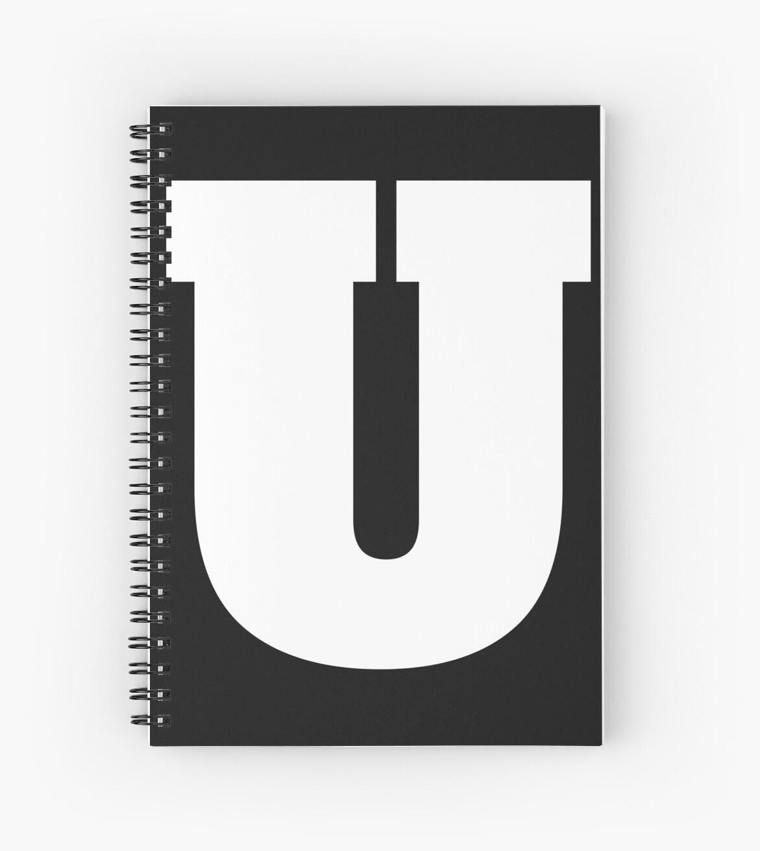 'alphabet U (Uppercase Letter U), Letter U' Spiral Notebook By  Mkcooldesigns Mk tout Cahier Majuscule