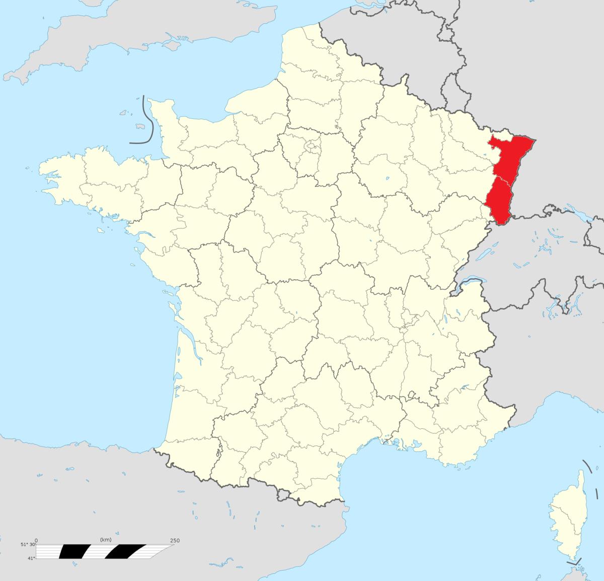 Alsace — Wikipédia tout Carte France Avec Departement
