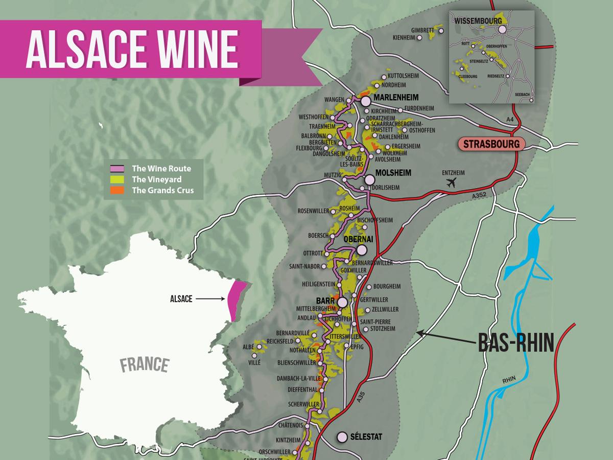 Alsace Wine Region: A Guide For Enthusiasts | Wine Folly concernant Liste Region De France
