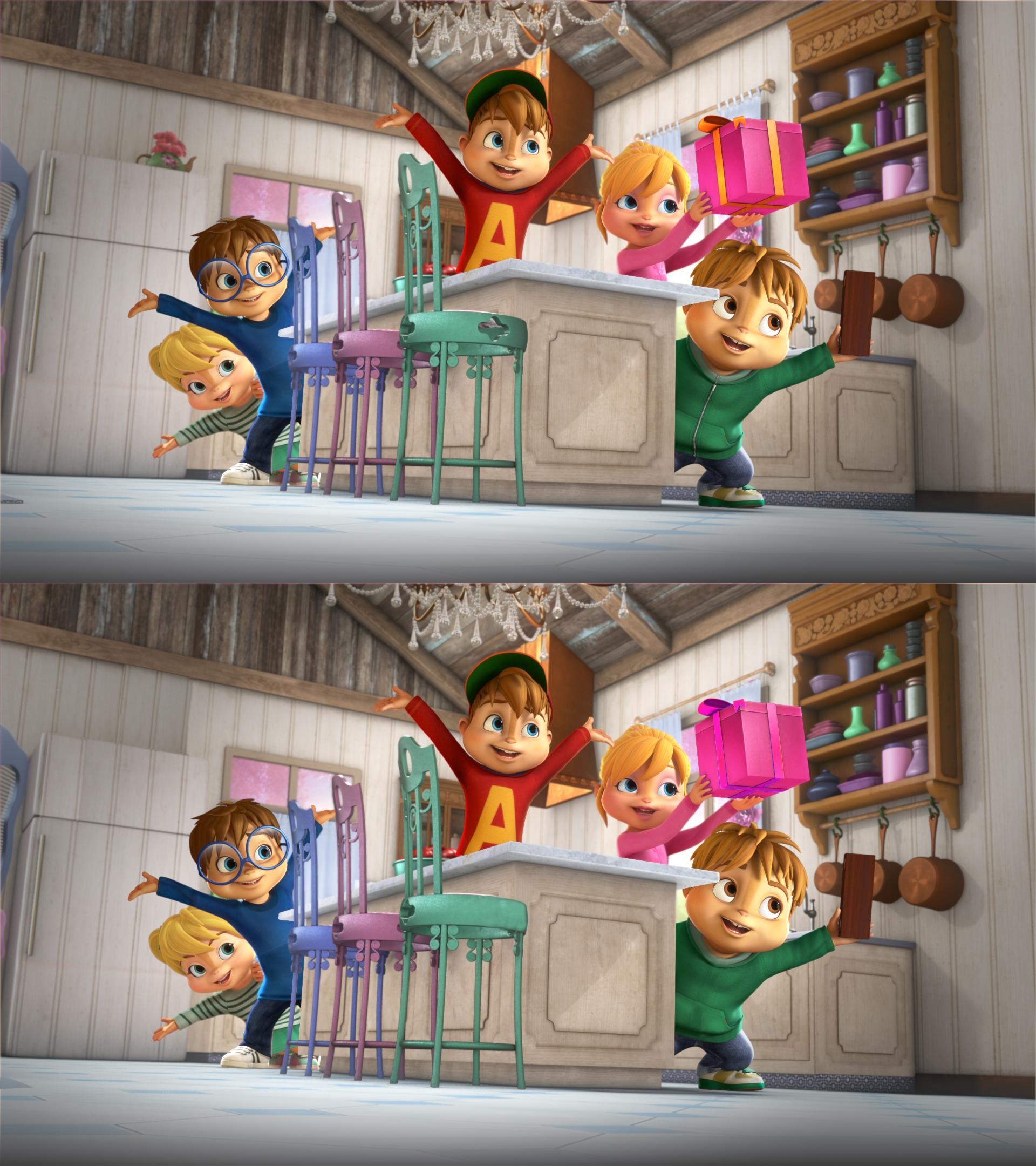 Alvinnn!!! Et Les Chipmunks - Ouftivi à Jeux De Différence