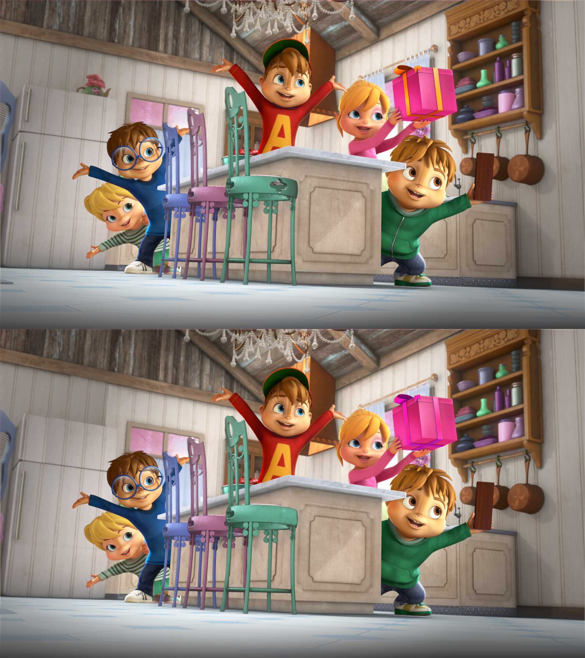 Alvinnn!!! Et Les Chipmunks - Ouftivi intérieur Jeux De La Différence
