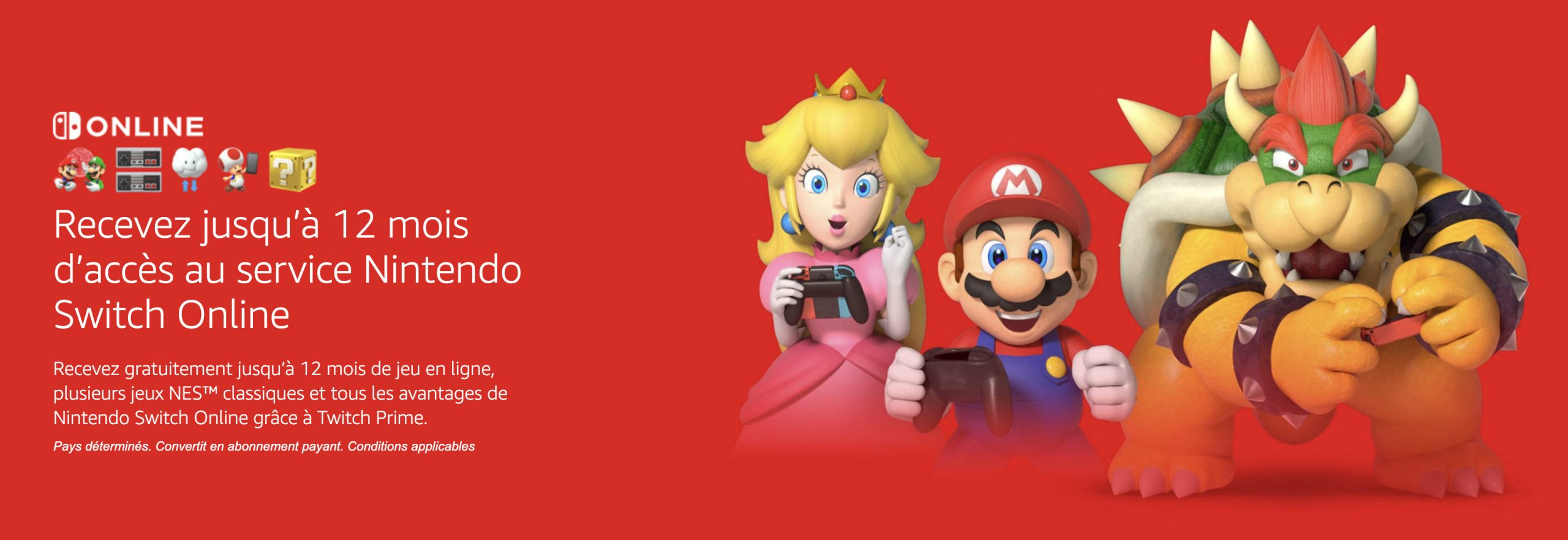 Amazon Prime Offre 3 À 12 Mois D'abonnement Au Nintendo serapportantà Jeux De Piece Gratuit