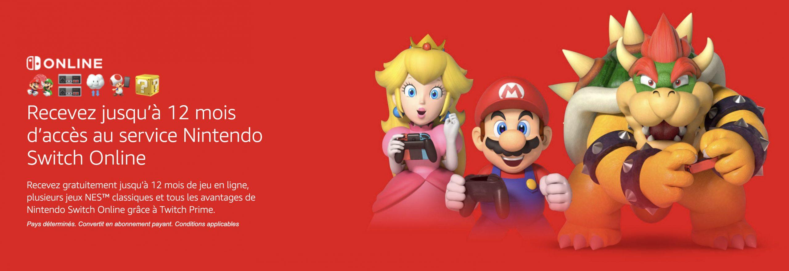 Amazon Prime Offre 3 À 12 Mois D'abonnement Au Nintendo tout Jeux A Deux En Ligne