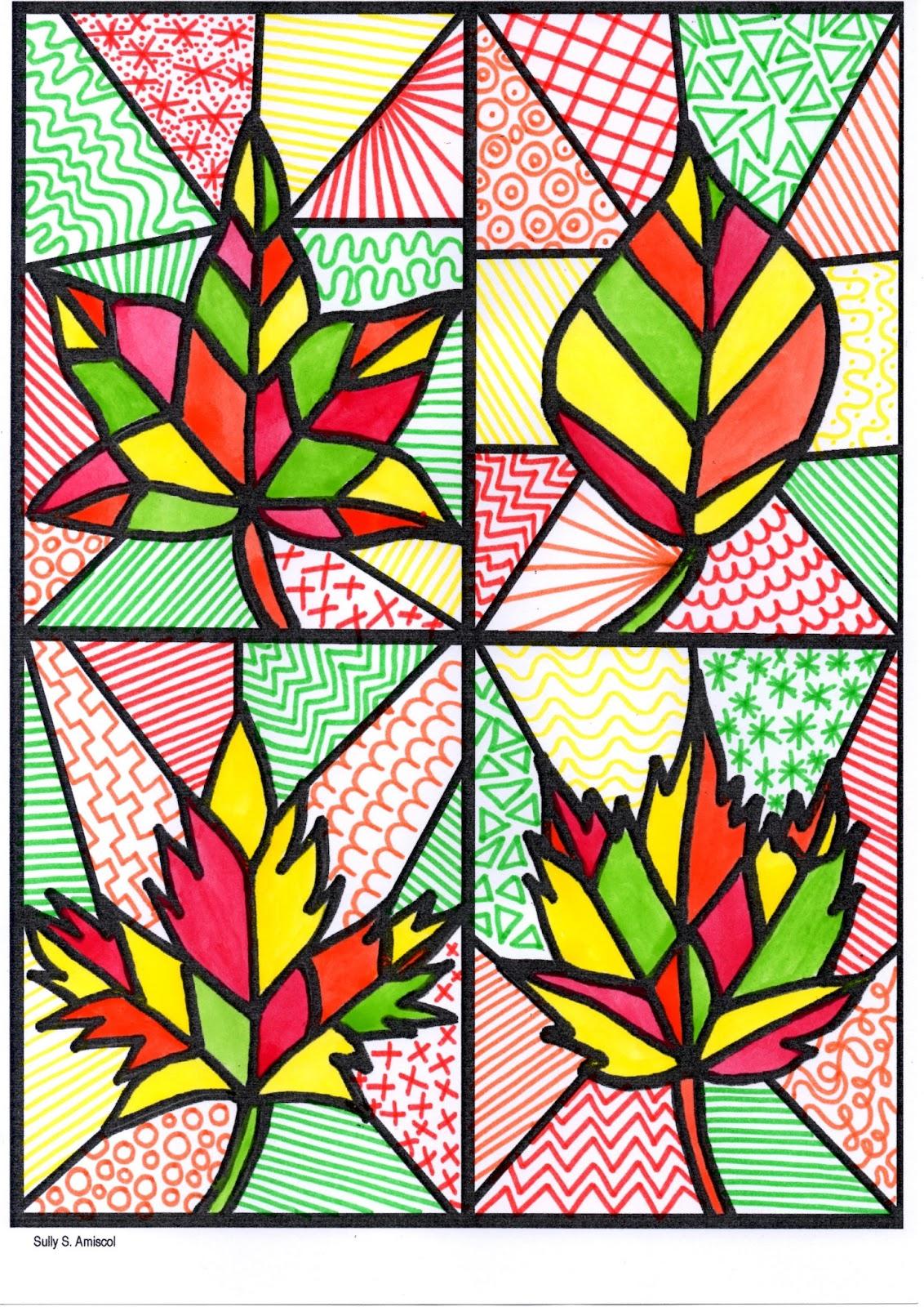 Amiscol: C'est L'automne. concernant Dessin De Feuille D Automne
