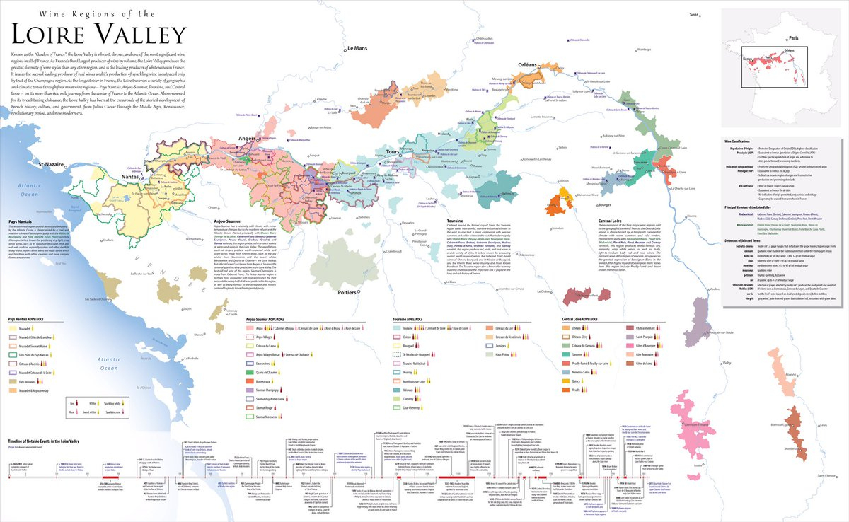 "Amphoramap On Twitter: ""#loire Valley #wine #map, New For pour Region De France 2017"