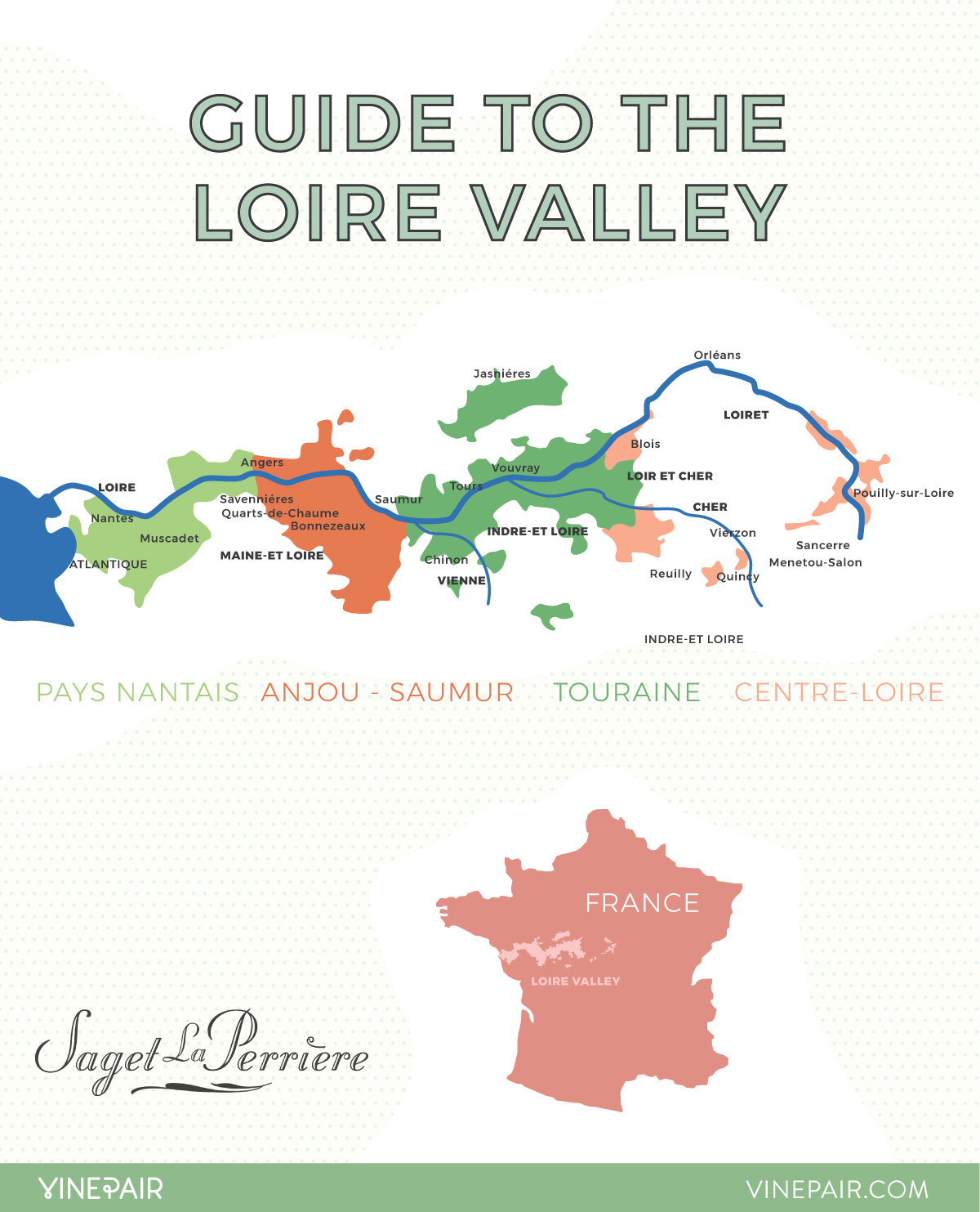 An Introduction To The Regions Of The Loire Valley: Map destiné Region De France 2017