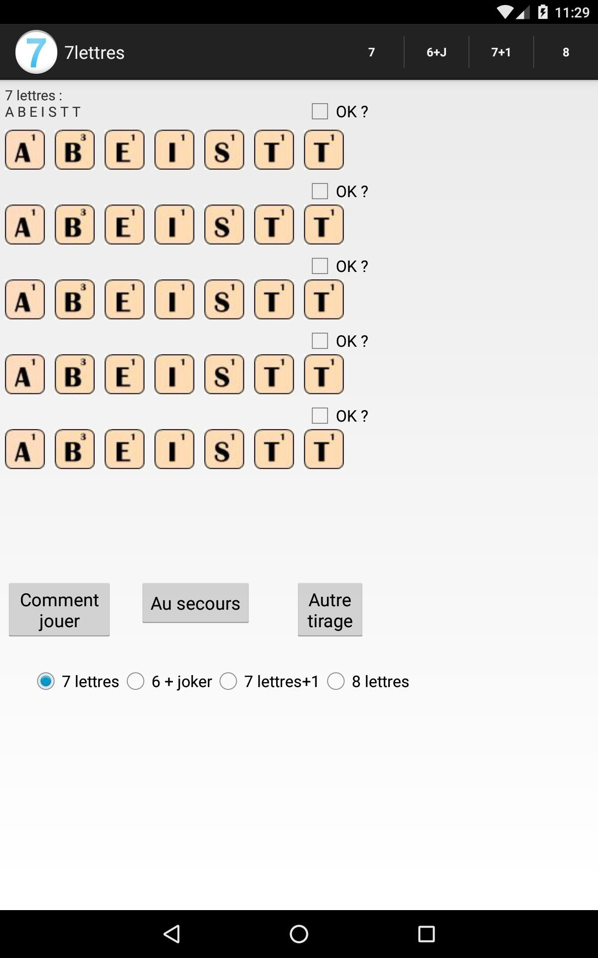 Anagrammes 7 Lettres For Android - Apk Download dedans Jeux Anagramme Gratuit A Telecharger