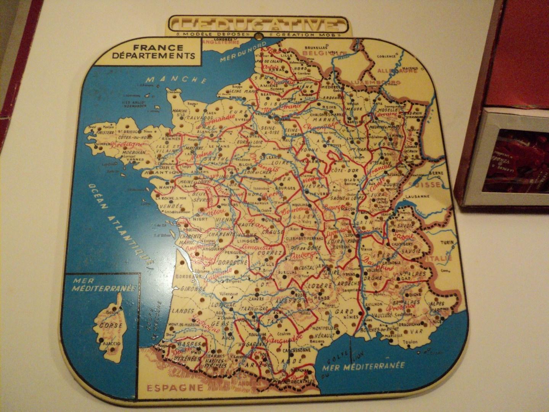 Ancien Jeu Éducatif La France En Puzzle Carte Des intérieur Jeu Carte De France