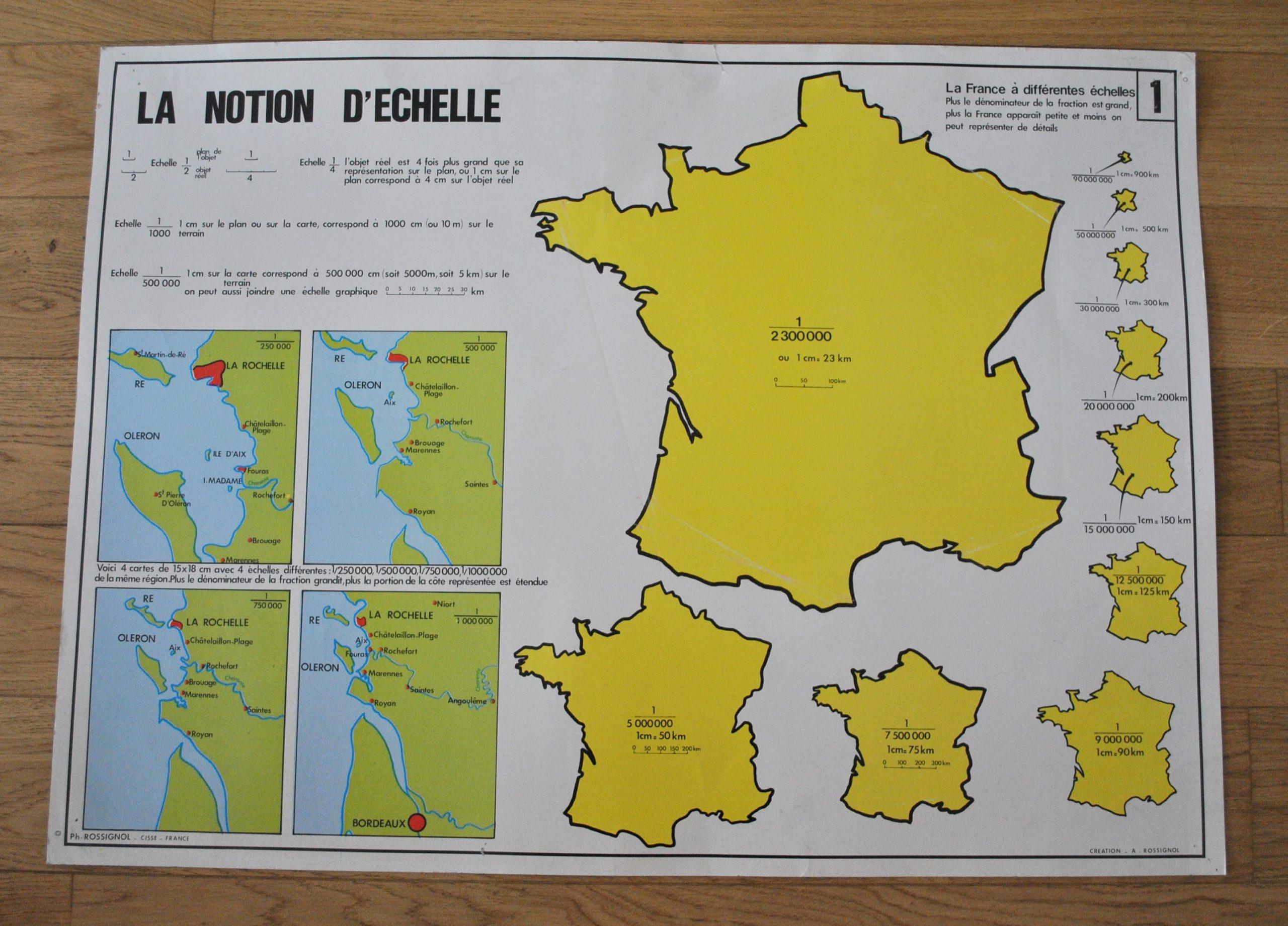 Ancienne Carte De Géographie Double Face - La Terre, Les tout Carte De France Et Ses Régions
