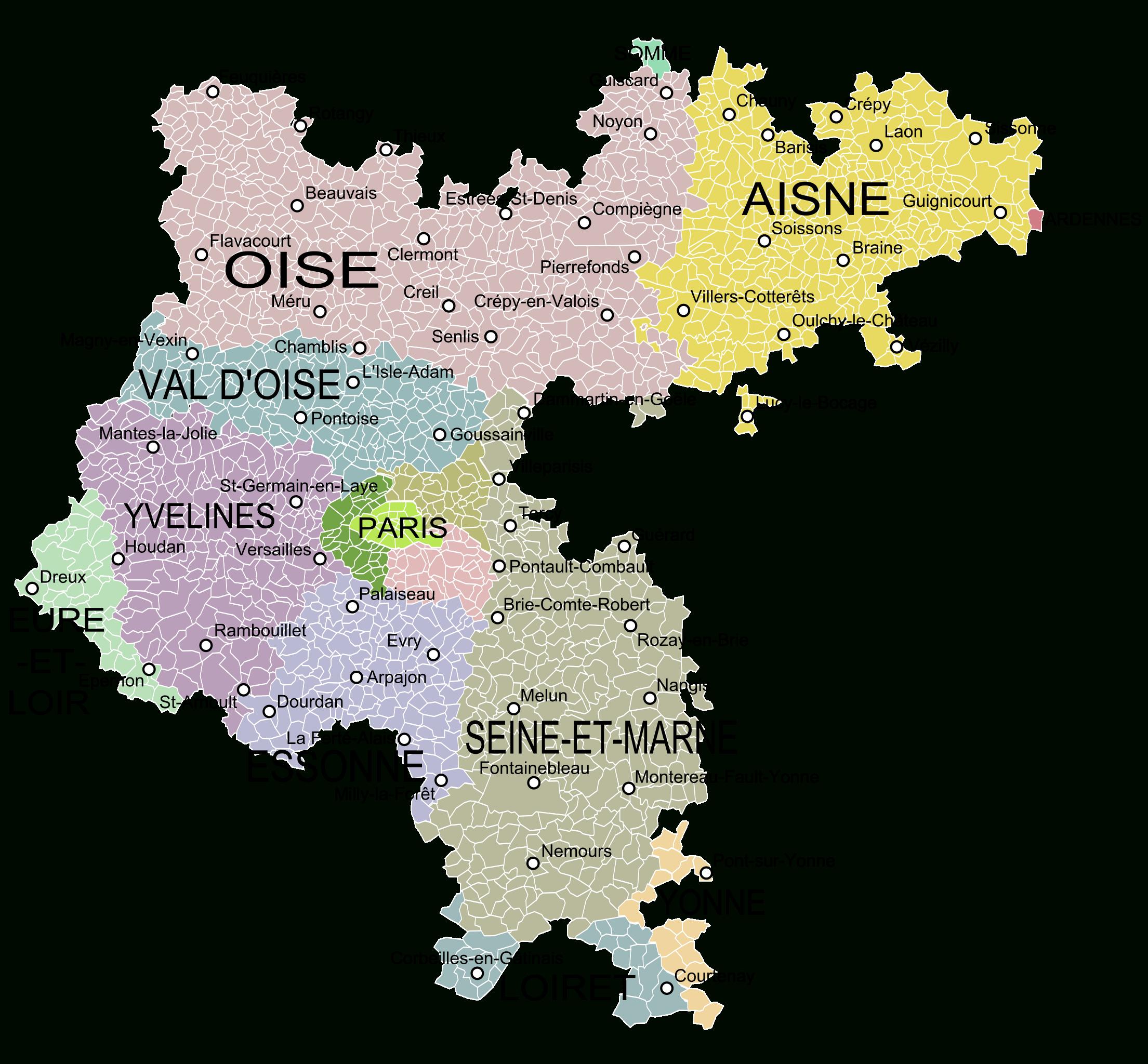 Ancienne Province D'île-De-France   Ile De France, Carte Des à Anciennes Régions