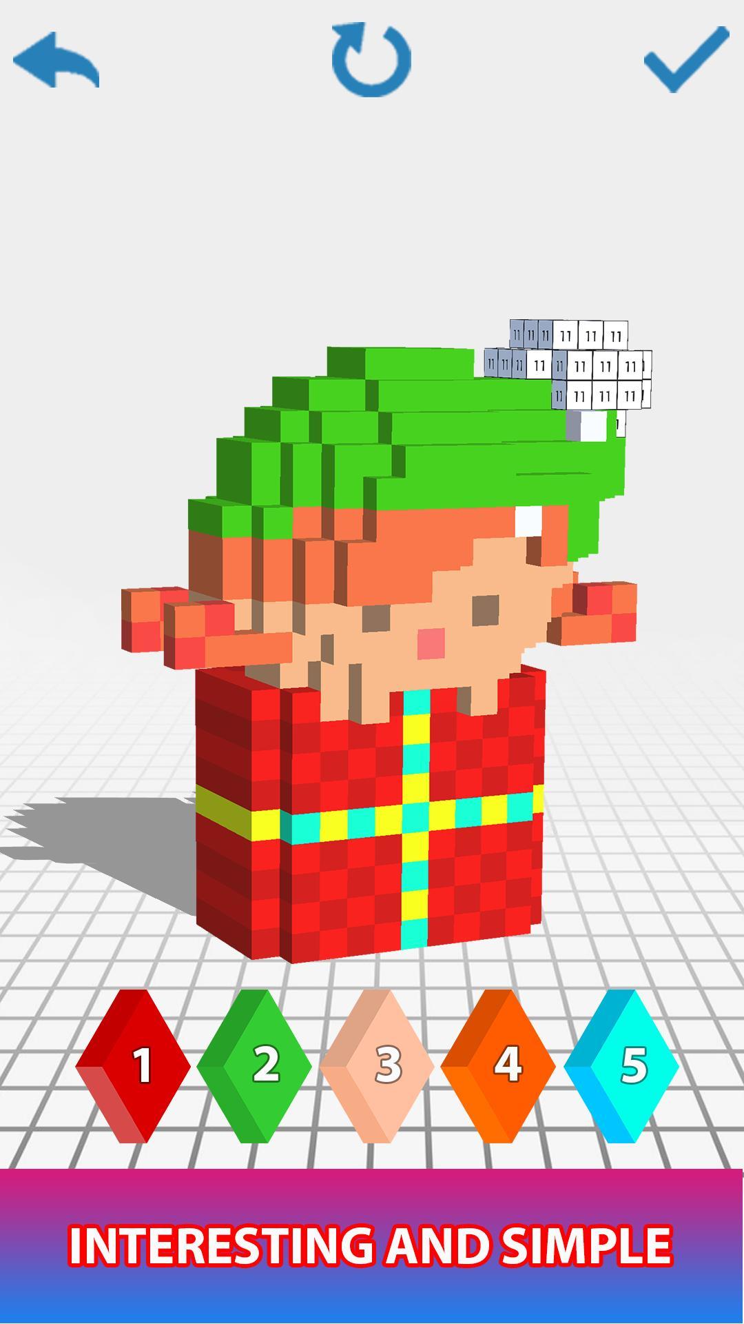 Android Için Christmas 3D Color By Number - Voxel, Pixel Art serapportantà Pixel Art De Noël
